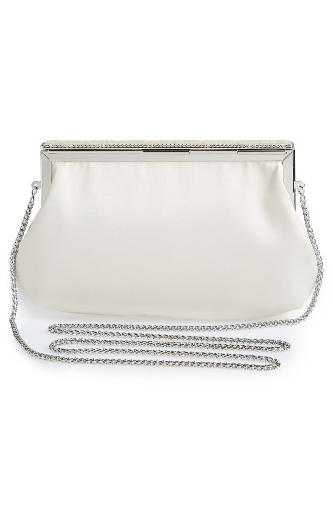 Alternate Image 4  - Nina 'Lendy' Satin Frame Clutch