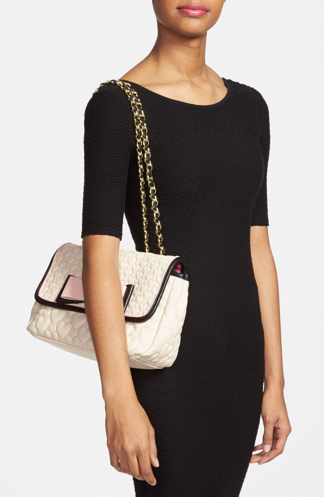 Alternate Image 2  - Betsey Johnson Flapover Shoulder Bag
