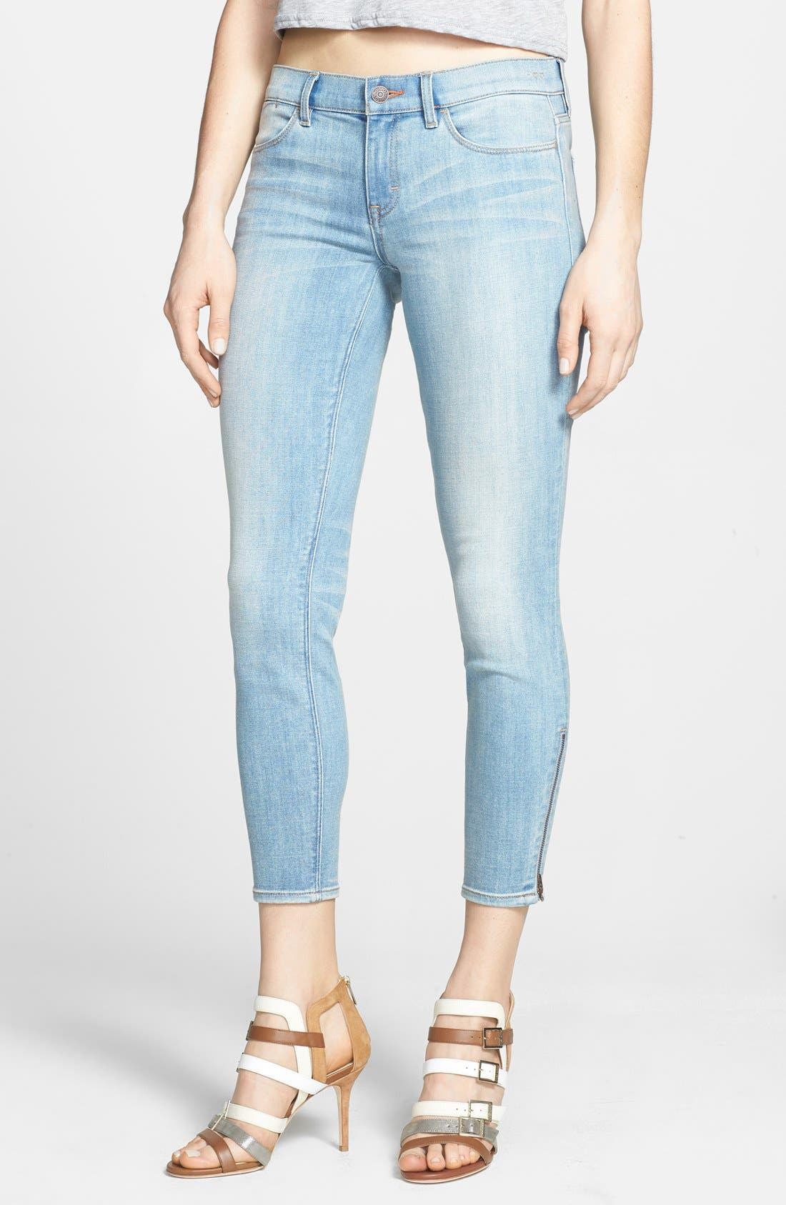 'Stevie' Crop Skinny Jeans,                             Main thumbnail 1, color,                             Long Island Sunset
