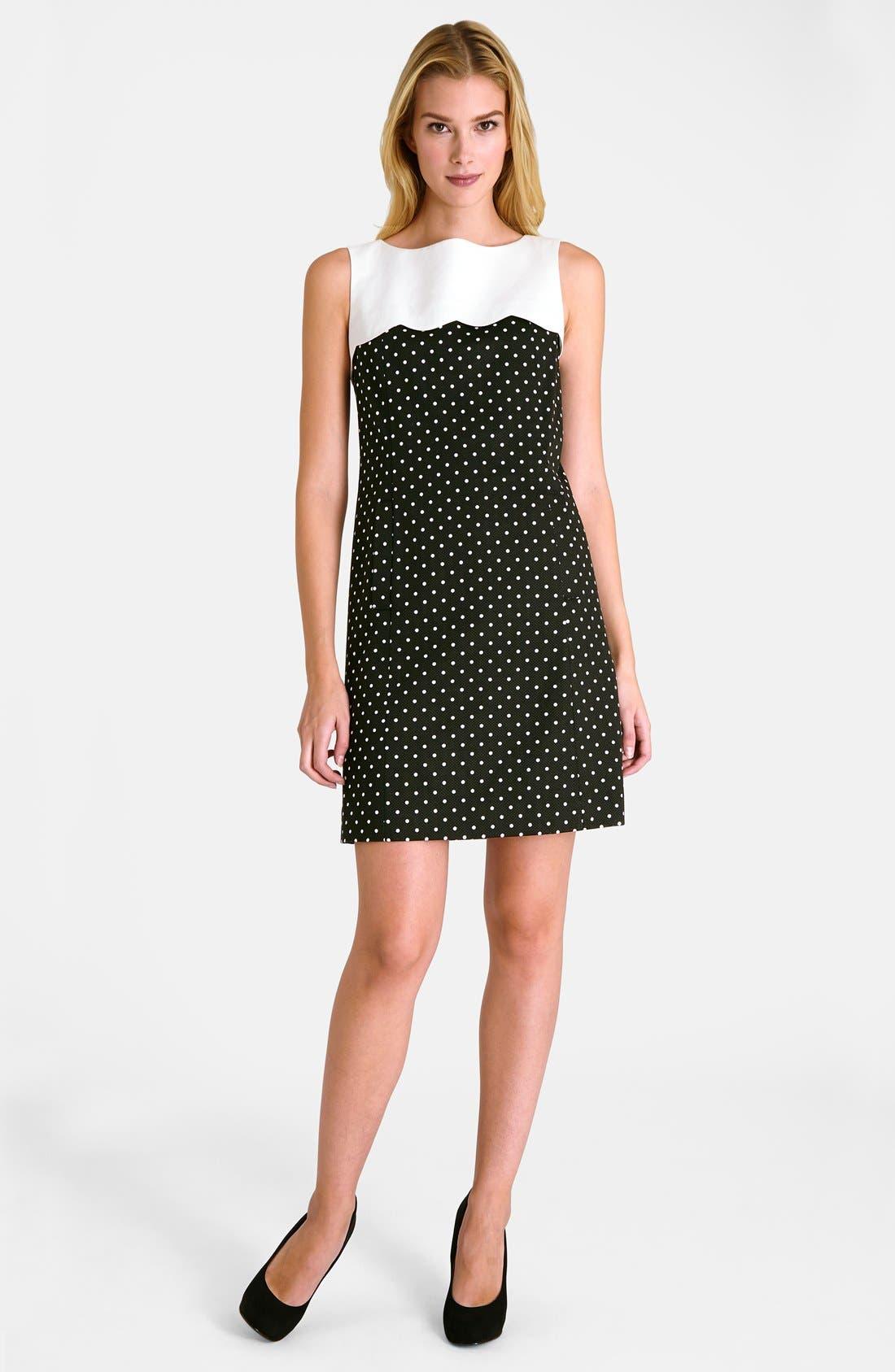 Alternate Image 3  - Tahari Polka Dot Shift Dress (Petite)
