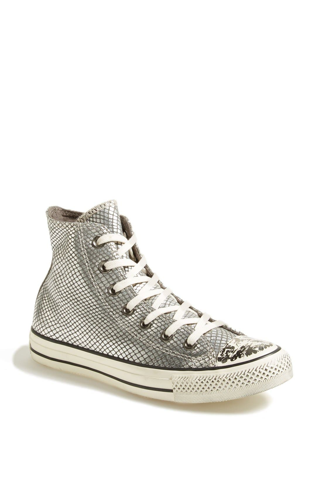 Main Image - Converse Chuck Taylor® All Star® Snake Print Leather High Top  Sneaker