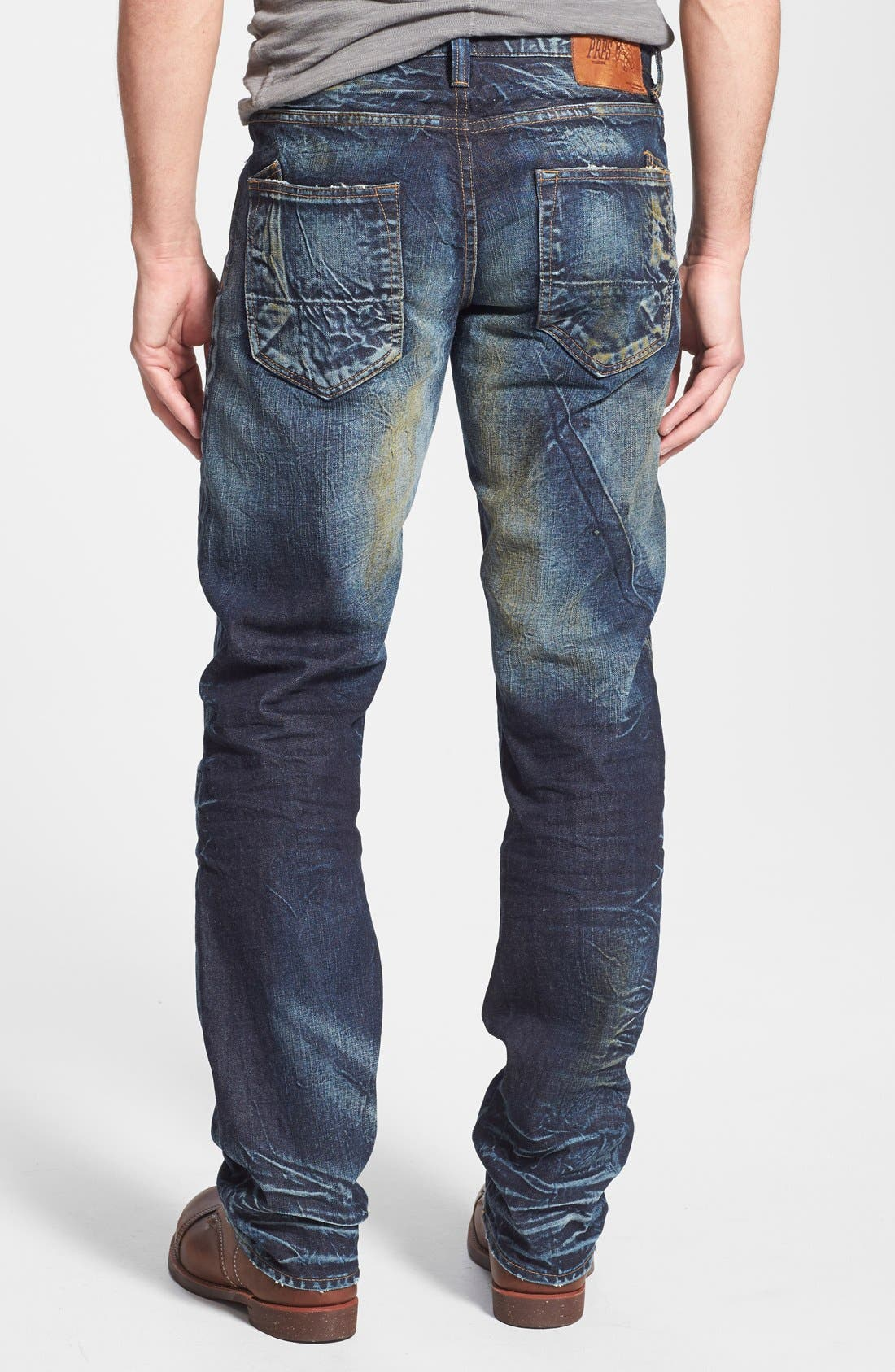 Alternate Image 2  - PRPS 'Barracuda' Distressed Straight Leg Jeans (Winged Bat)