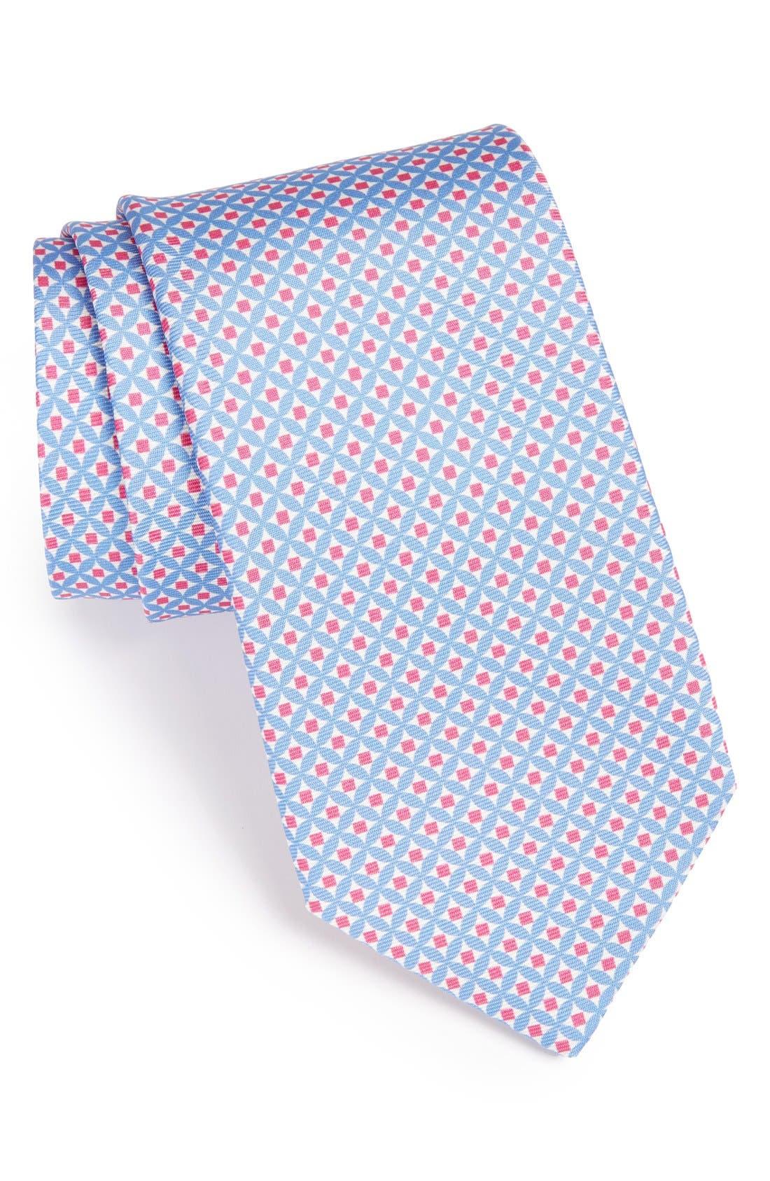 Main Image - Peter Millar Geometric Woven Silk Tie