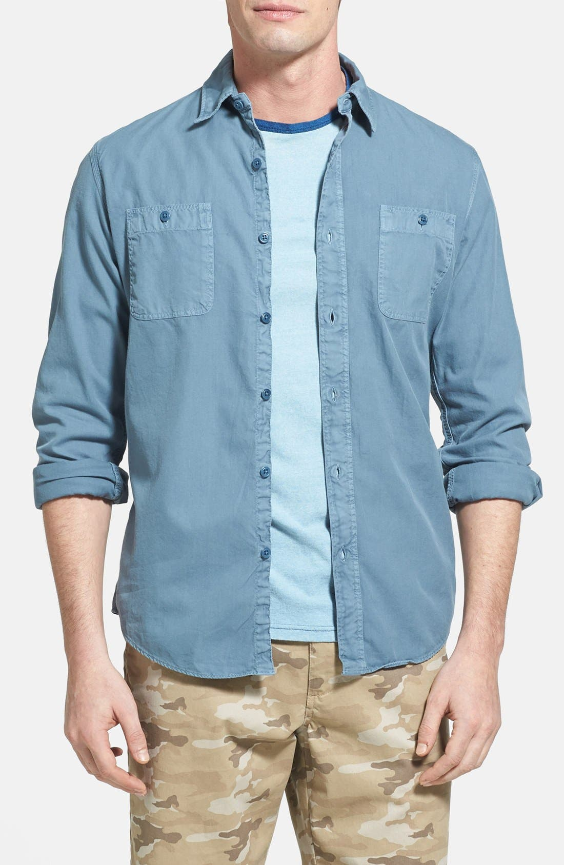 Alternate Image 1 Selected - Faherty 'Sea View' Twill Sport Shirt
