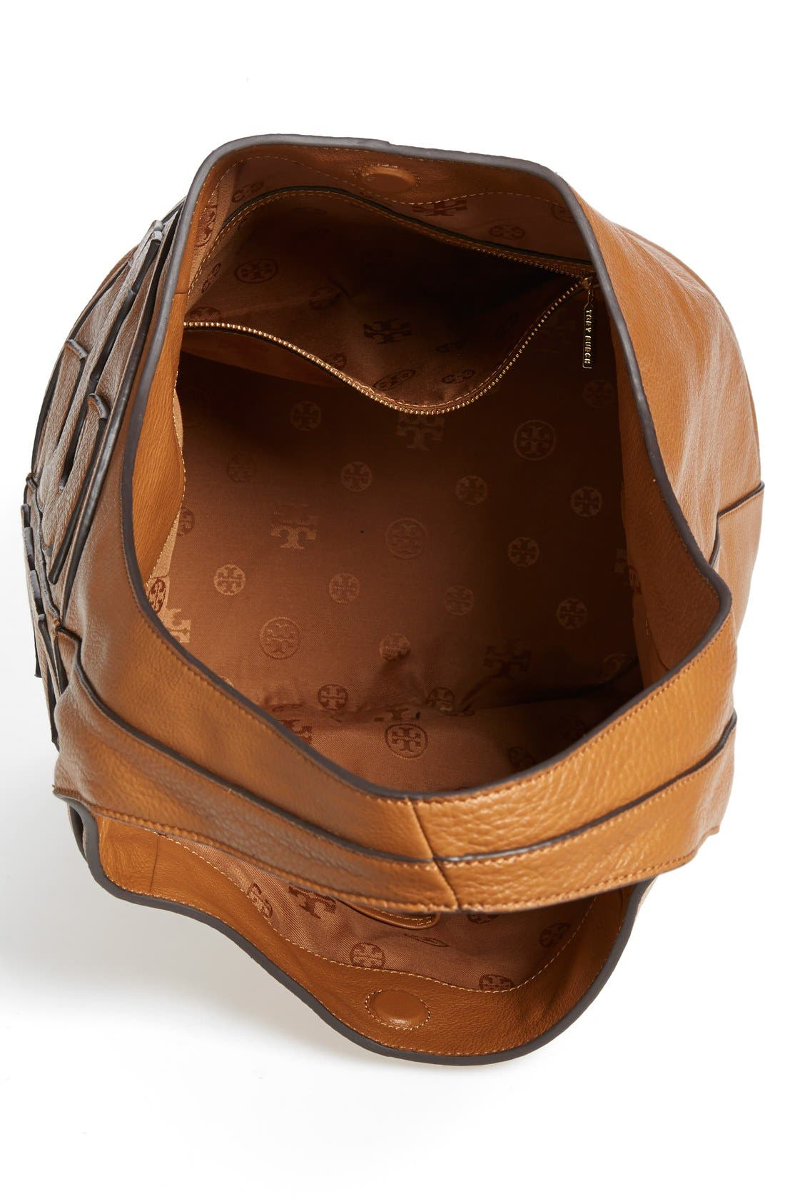 Alternate Image 3  - Tory Burch 'All T' Logo Leather Hobo