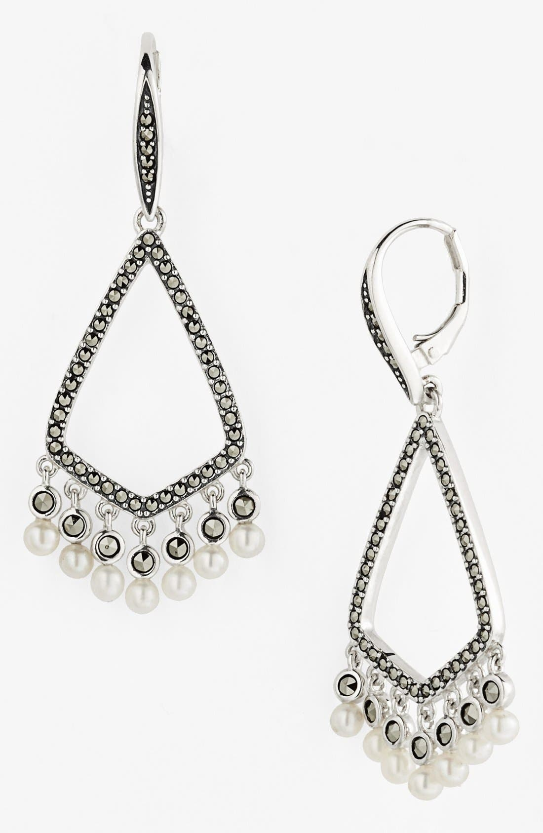 Alternate Image 1 Selected - Judith Jack 'Pearl Romance' Drop Earrings