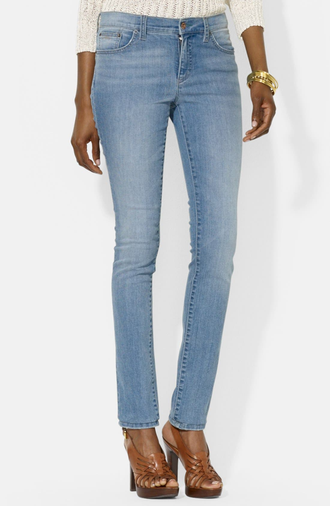 Alternate Image 1 Selected - Lauren Ralph Lauren Modern Skinny Jeans (Peak) (Petite)