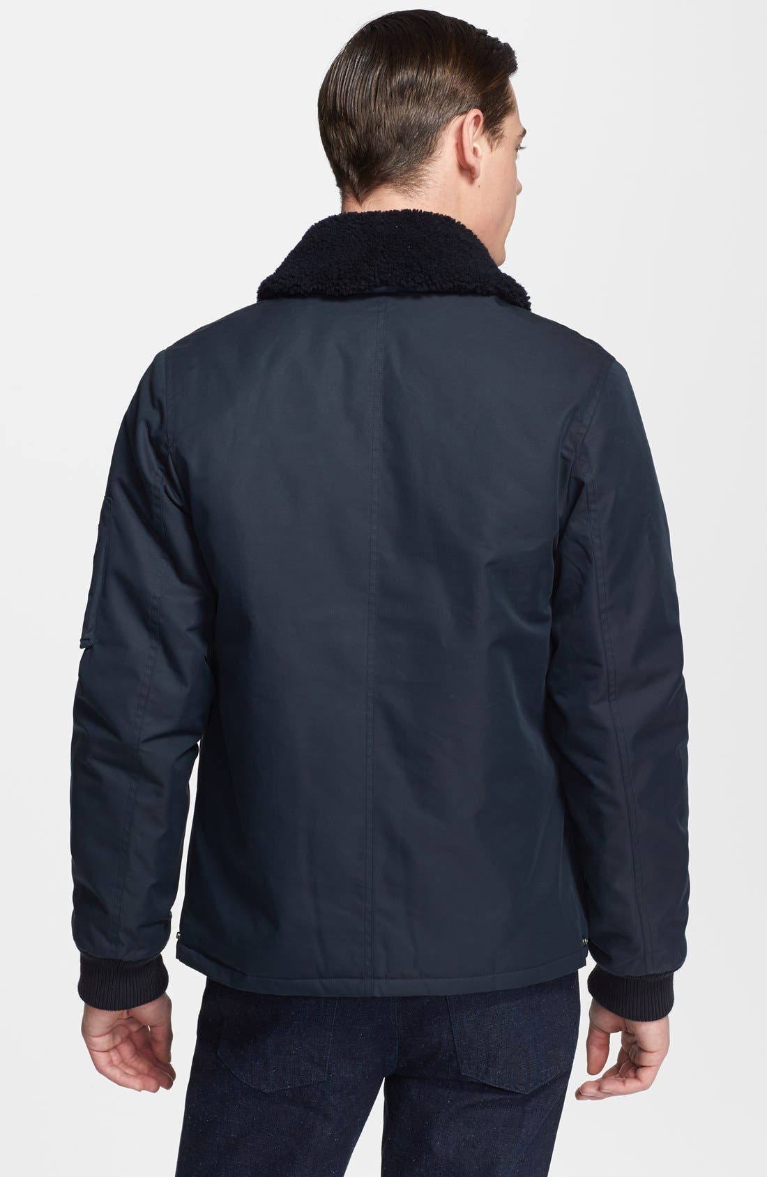Alternate Image 2  - A.P.C. 'Hunter' Jacket with Removable Shearling Collar