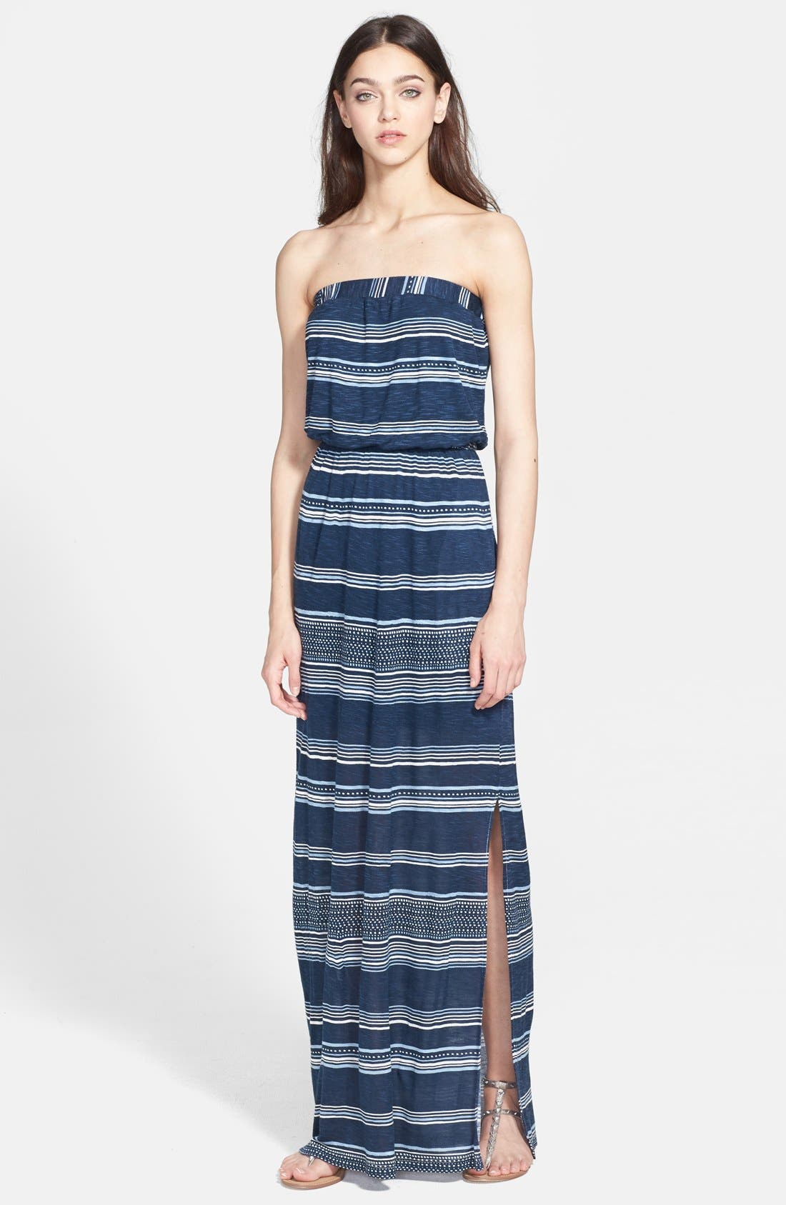 Alternate Image 1 Selected - Splendid 'Safari' Stripe Strapless Maxi Dress