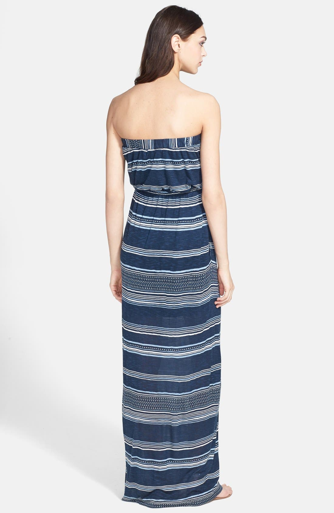 Alternate Image 2  - Splendid 'Safari' Stripe Strapless Maxi Dress