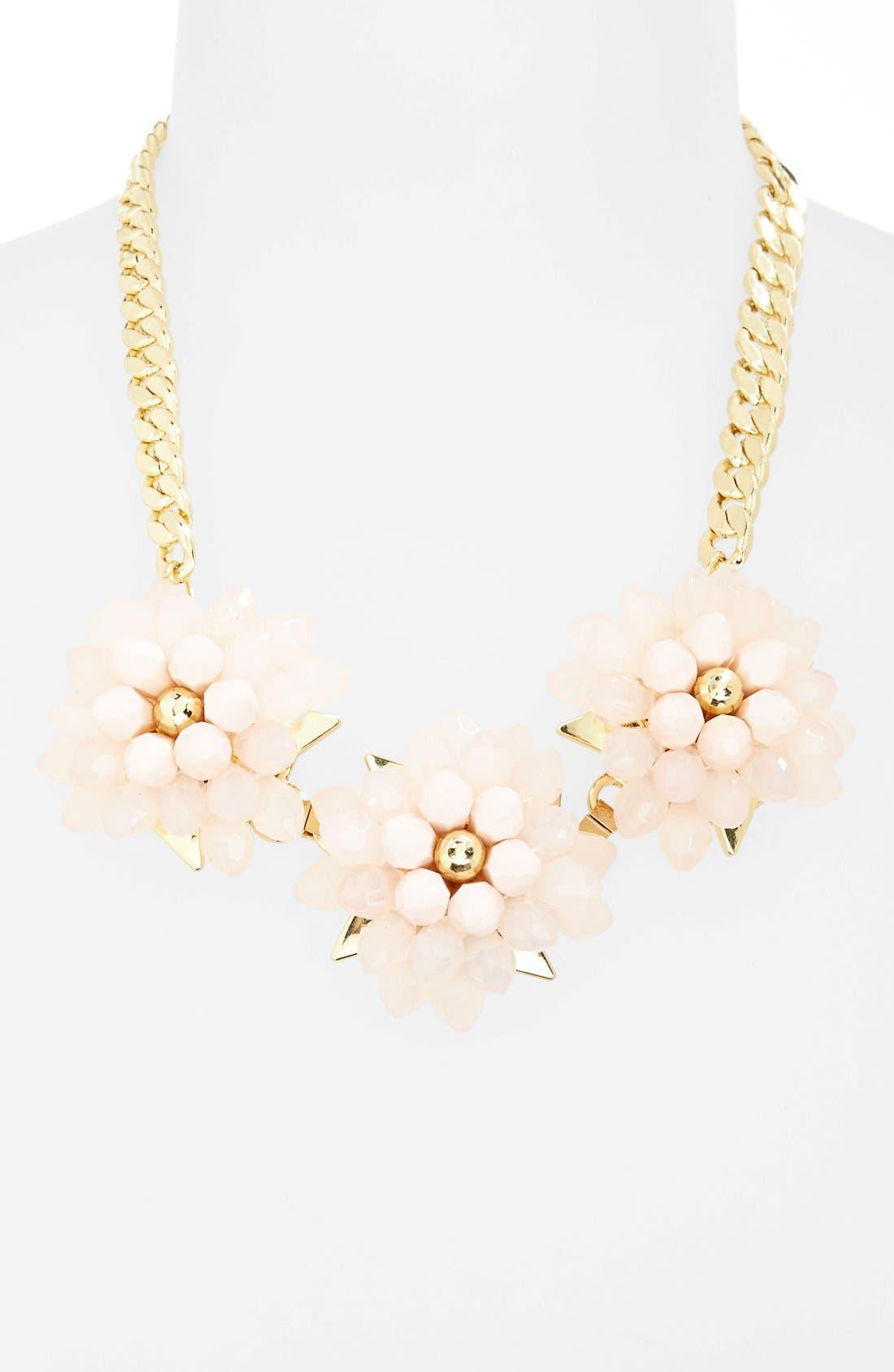 Alternate Image 1 Selected - Topshop Flower Frontal Necklace