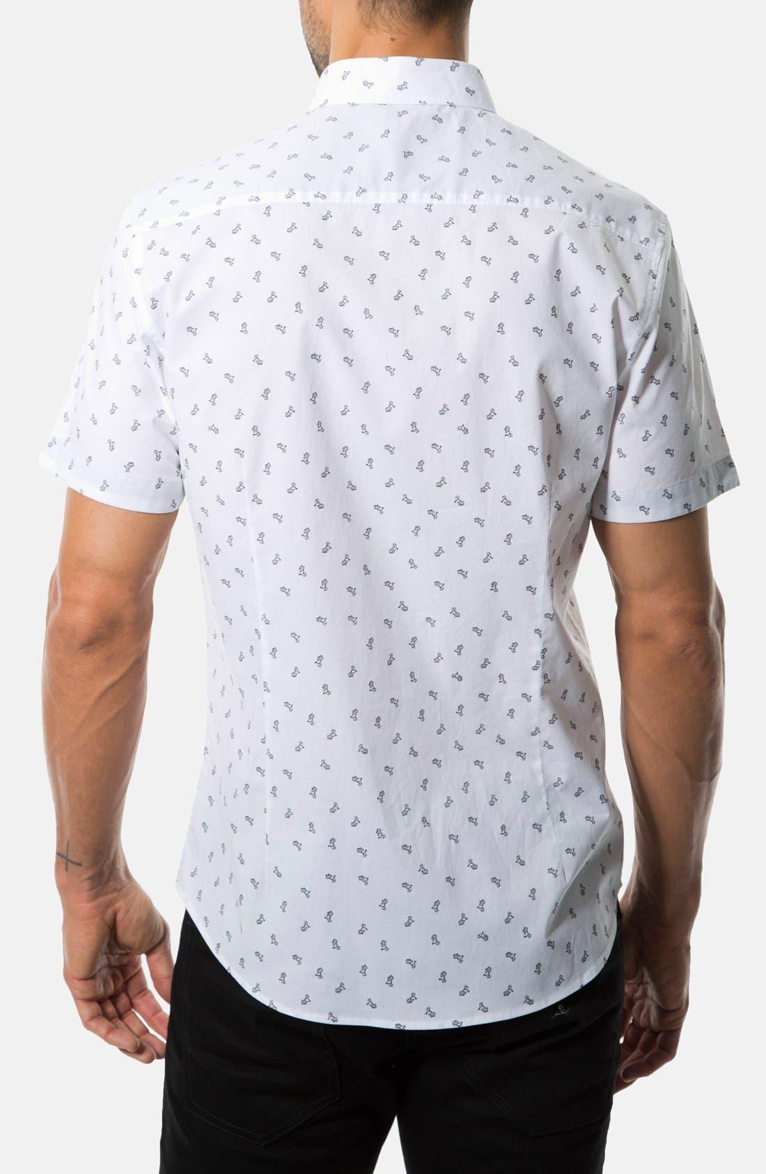 Alternate Image 2  - 7 Diamonds 'Keep Moving' Short Sleeve Print Sport Shirt