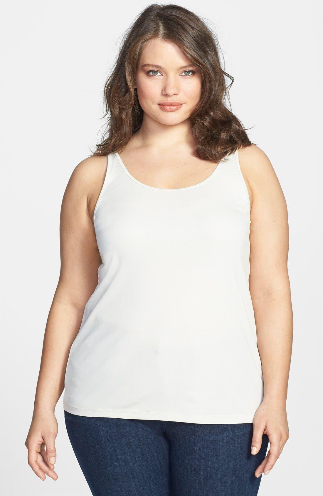 Main Image - Eileen Fisher Stretch Silk Jersey Camisole (Plus Size)