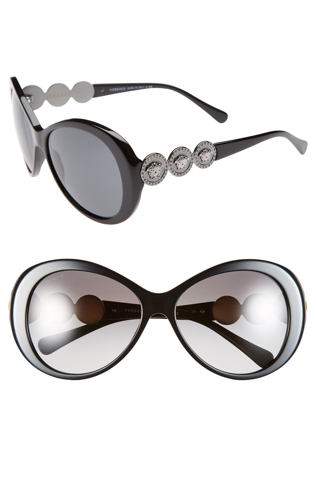 Main Image - Versace 58mm Round Sunglasses