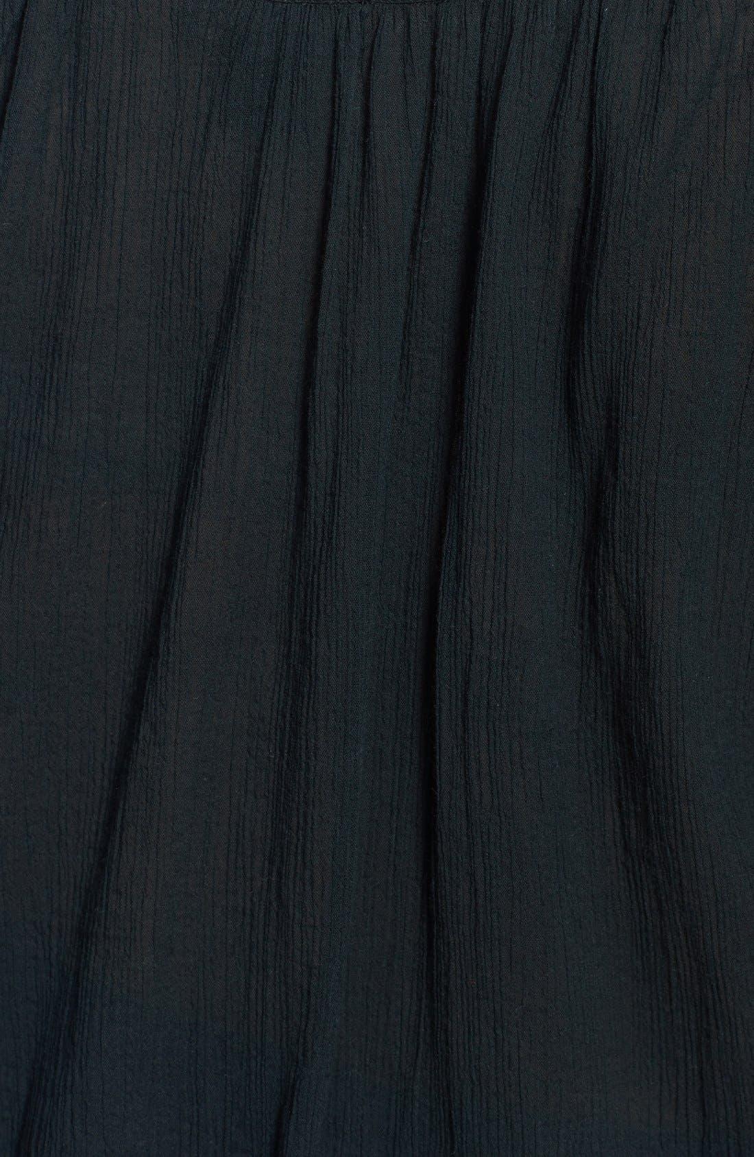Alternate Image 3  - Lucky Brand Battenberg Lace Trim Top (Plus Size)