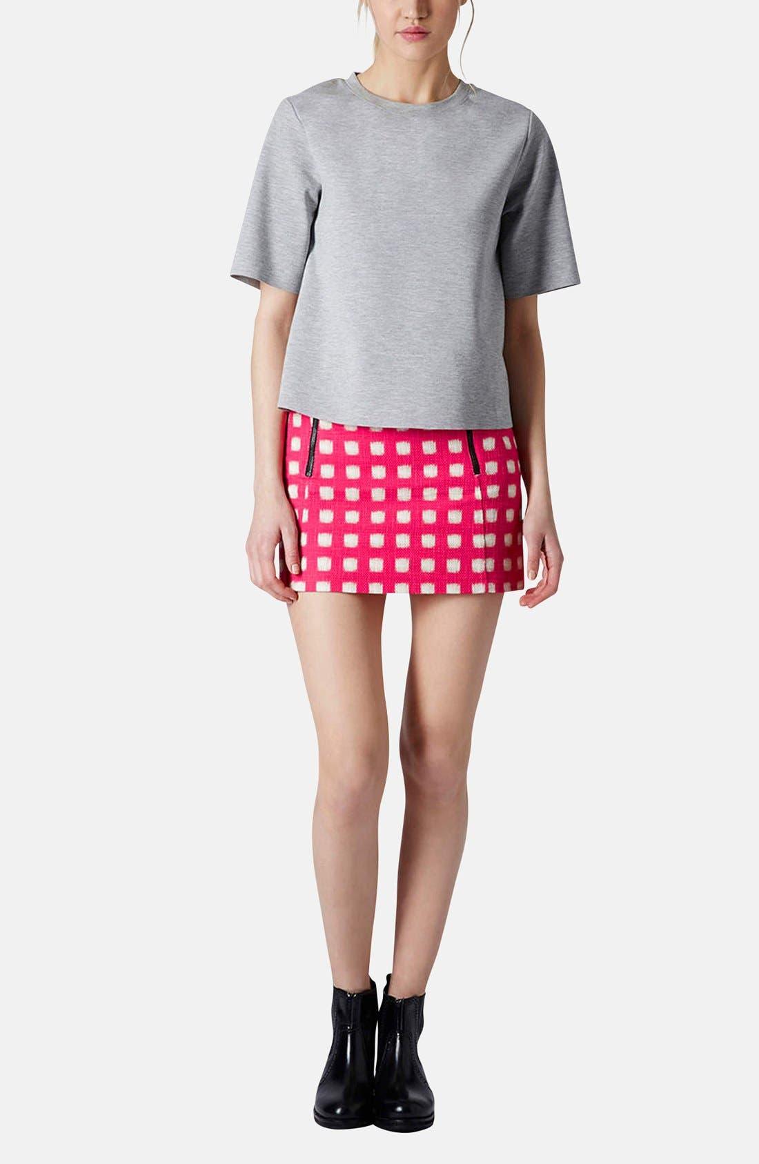 Alternate Image 5  - Topshop Grid Print Cotton Miniskirt