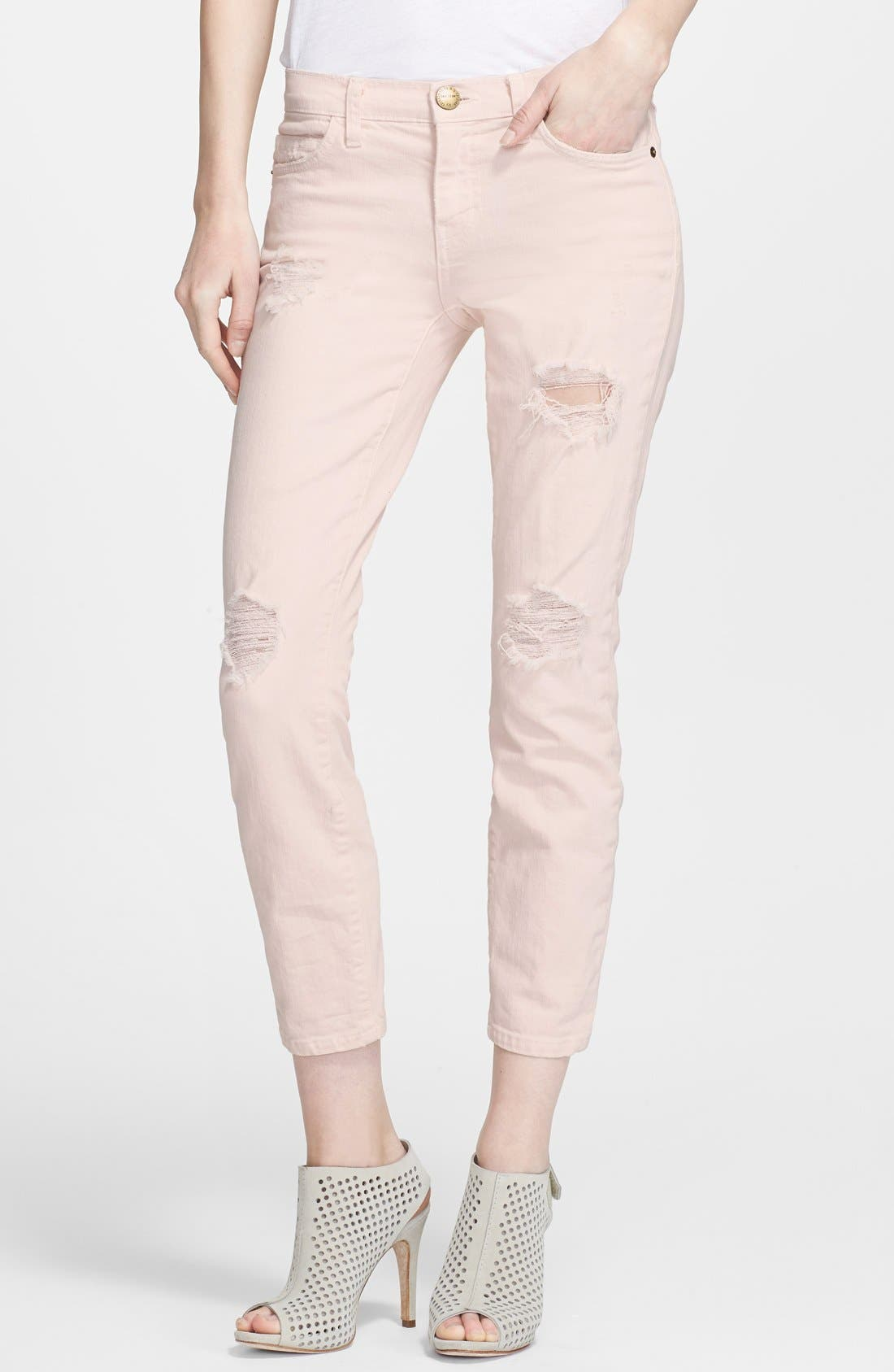 Alternate Image 1 Selected - Current/Elliott 'The Stiletto' Jeans (Dusty Pink)