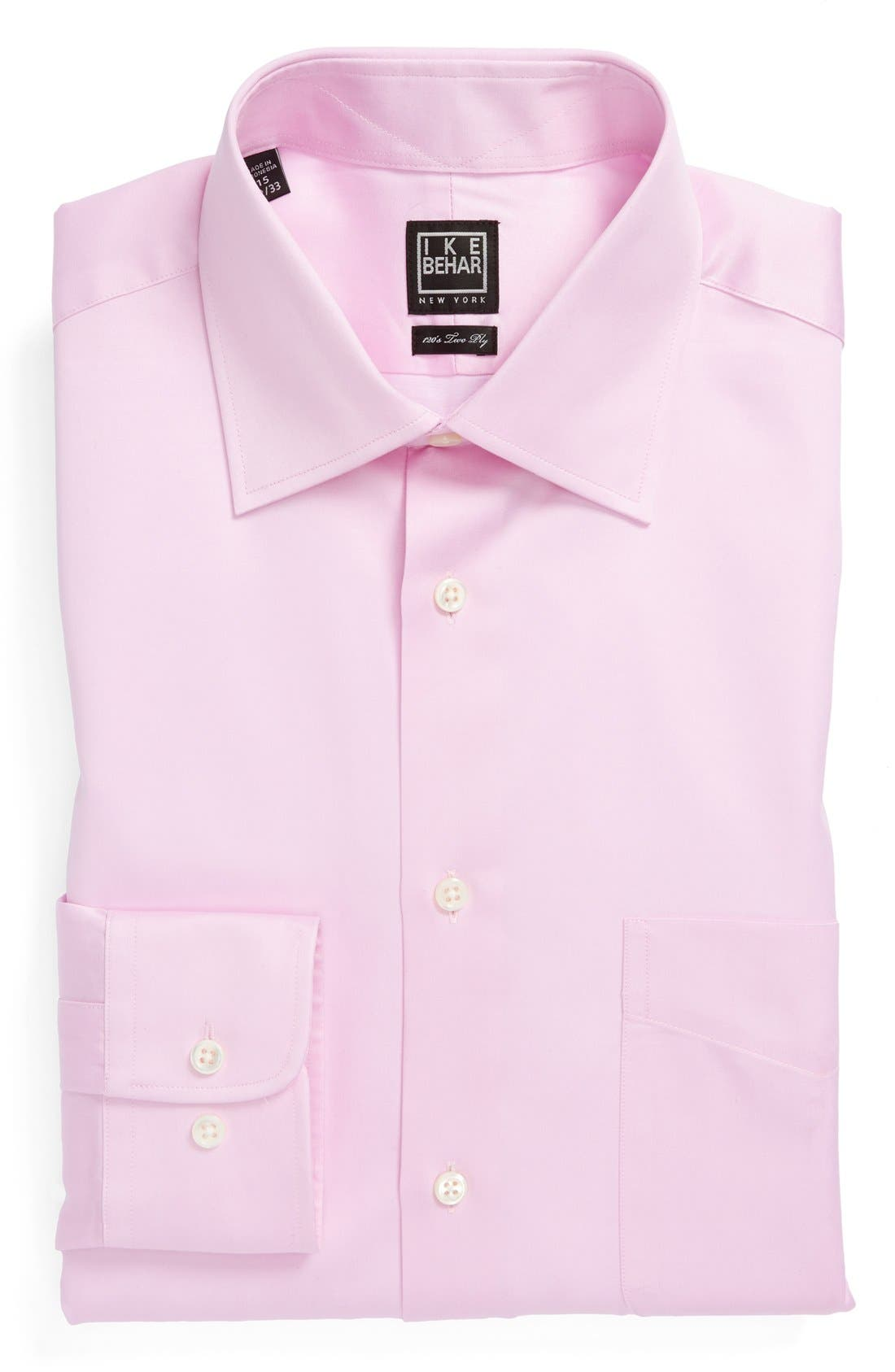 Main Image - Ike Behar Regular Fit Solid Dress Shirt (Online Only)
