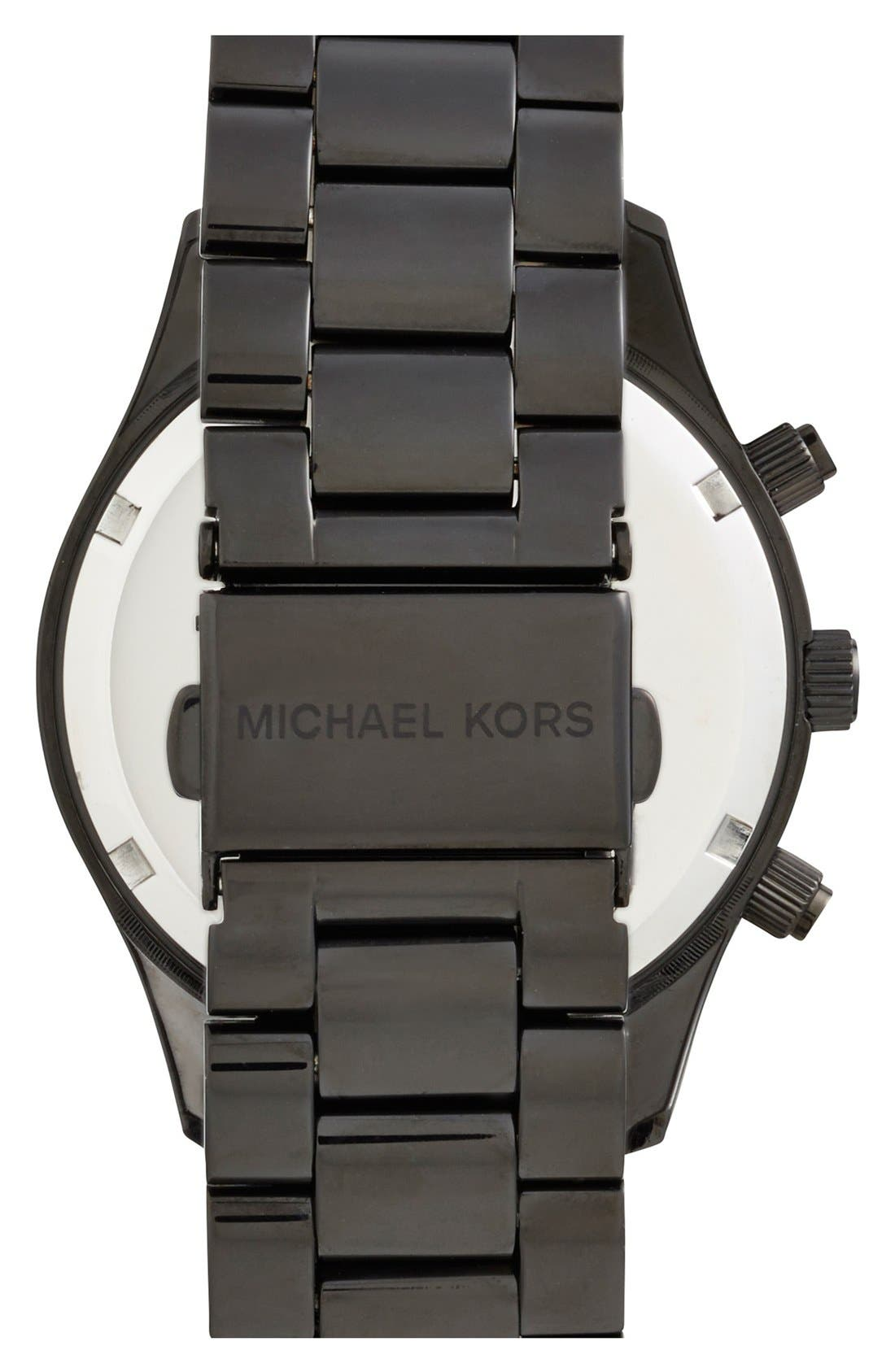 Alternate Image 2  - Michael Kors 'Layton' Chronograph Bracelet Watch, 44mm (Nordstrom Exclusive)
