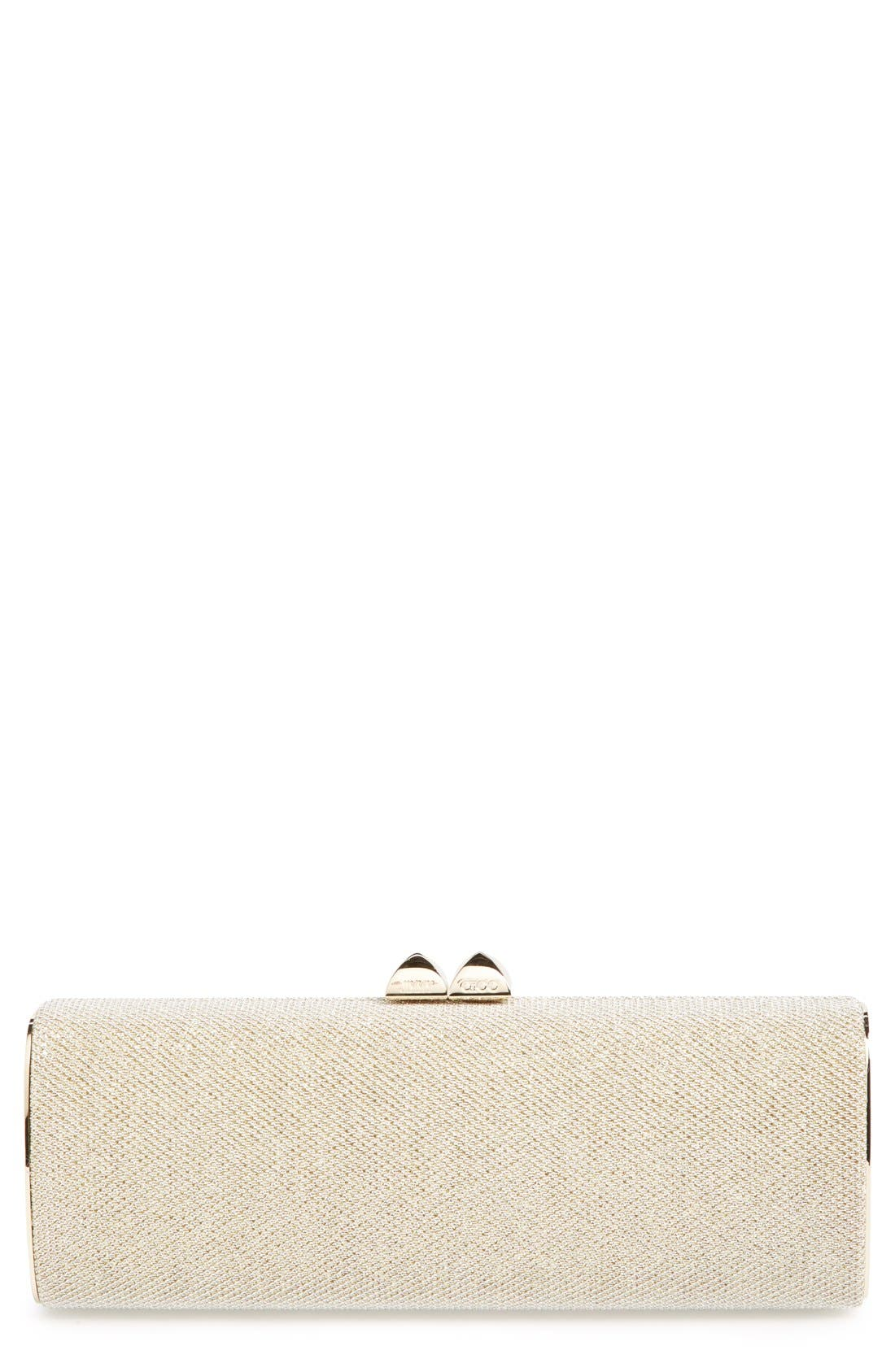 Alternate Image 1 Selected - Jimmy Choo 'Charm' Lamé Glitter Clutch