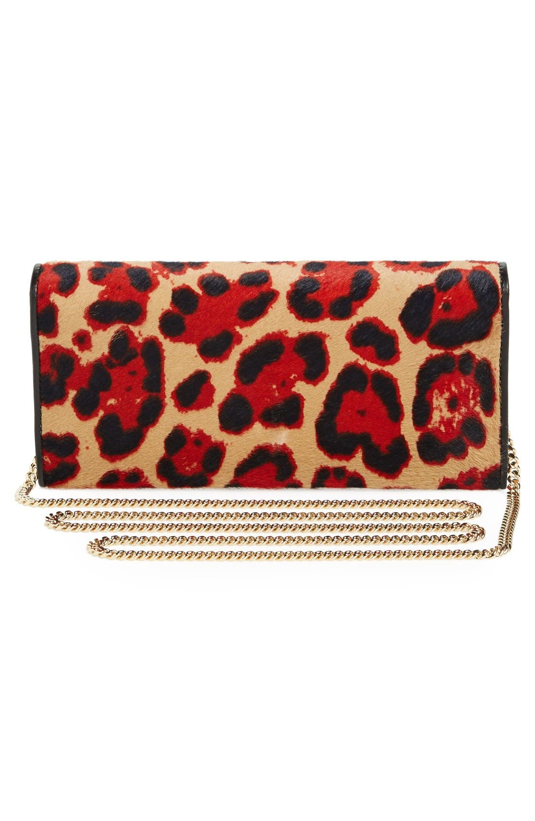 Alternate Image 4  - Jimmy Choo 'Milla' Genuine Calf Hair Wallet on a Chain