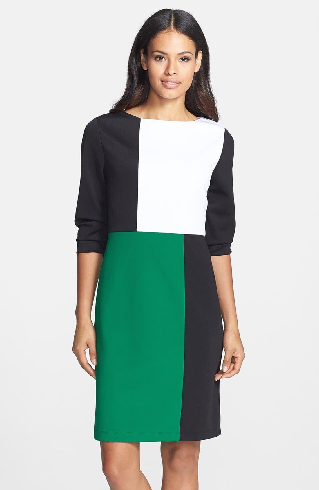 Main Image - Isaac Mizrahi New York Colorblock Shift Dress