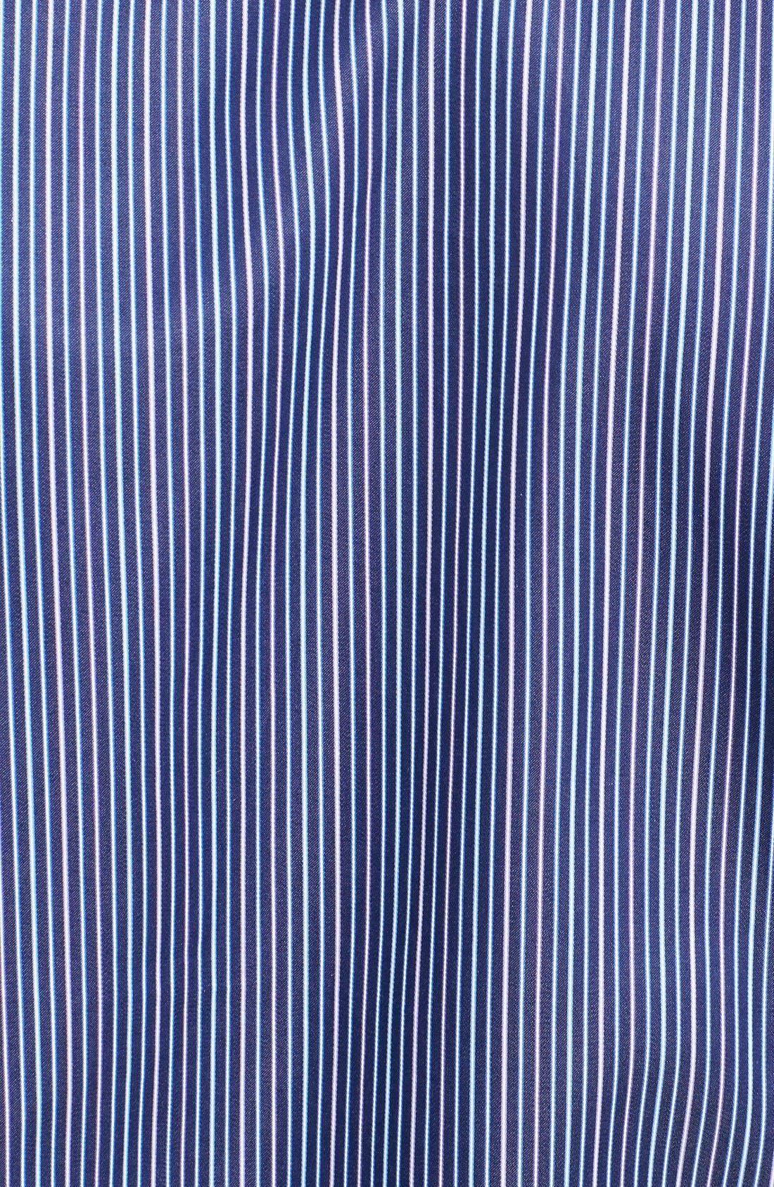Alternate Image 3  - Robert Talbott Trim Fit Stripe Woven Sport Shirt