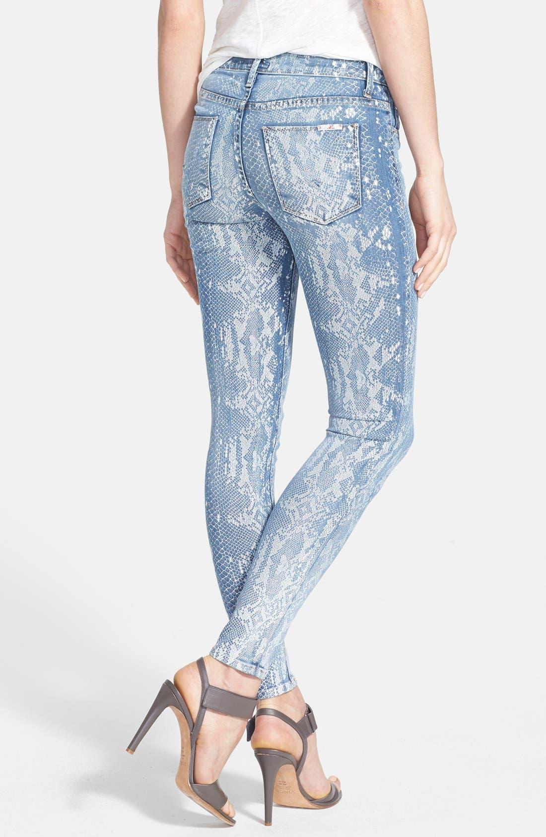 Alternate Image 2  - Hudson Jeans 'Nico' Print Skinny Stretch Jeans (Copperhead)