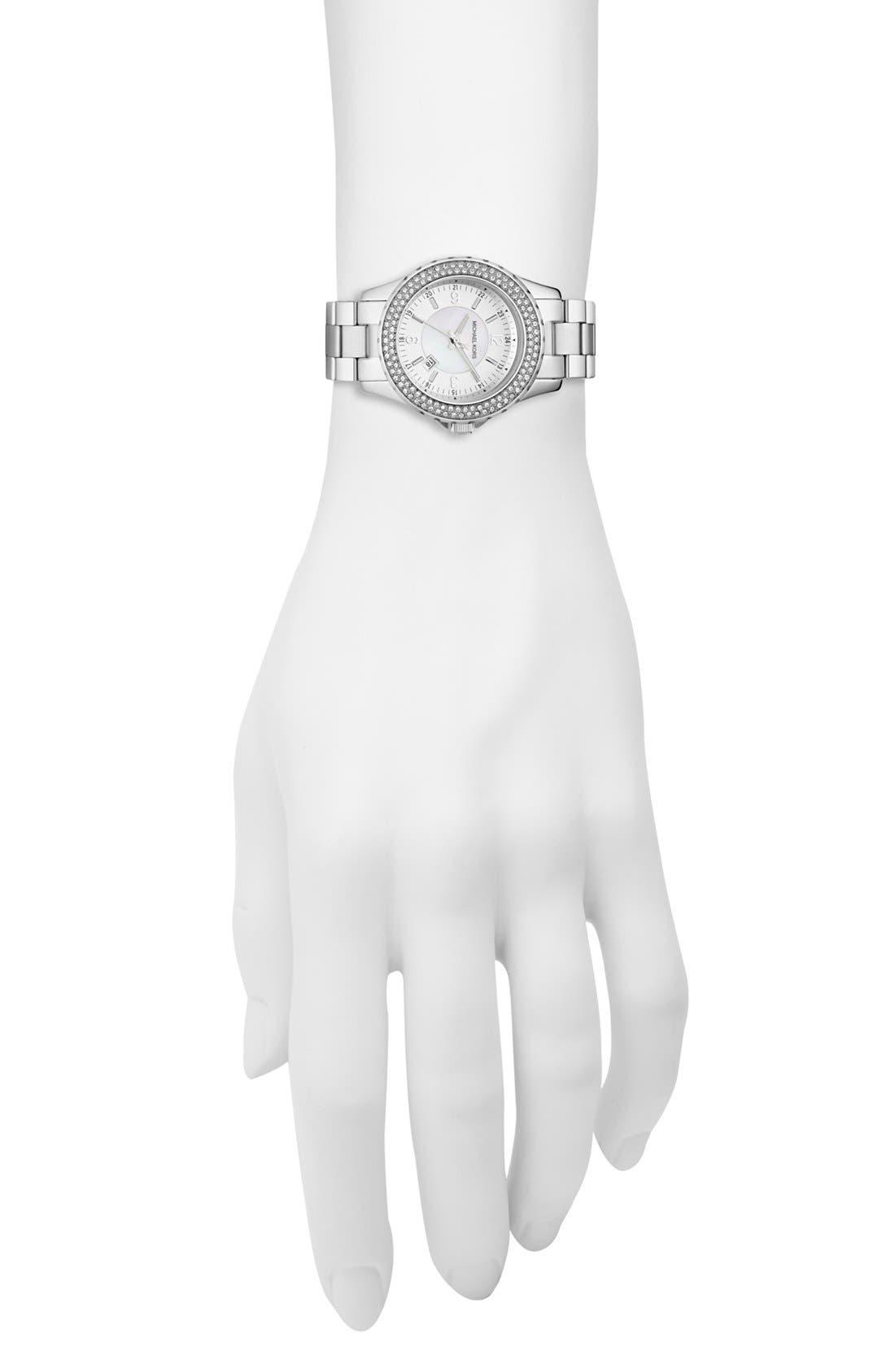 Alternate Image 2  - Michael Kors 'Mini Madison' Twin Row Crystal Watch, 33mm