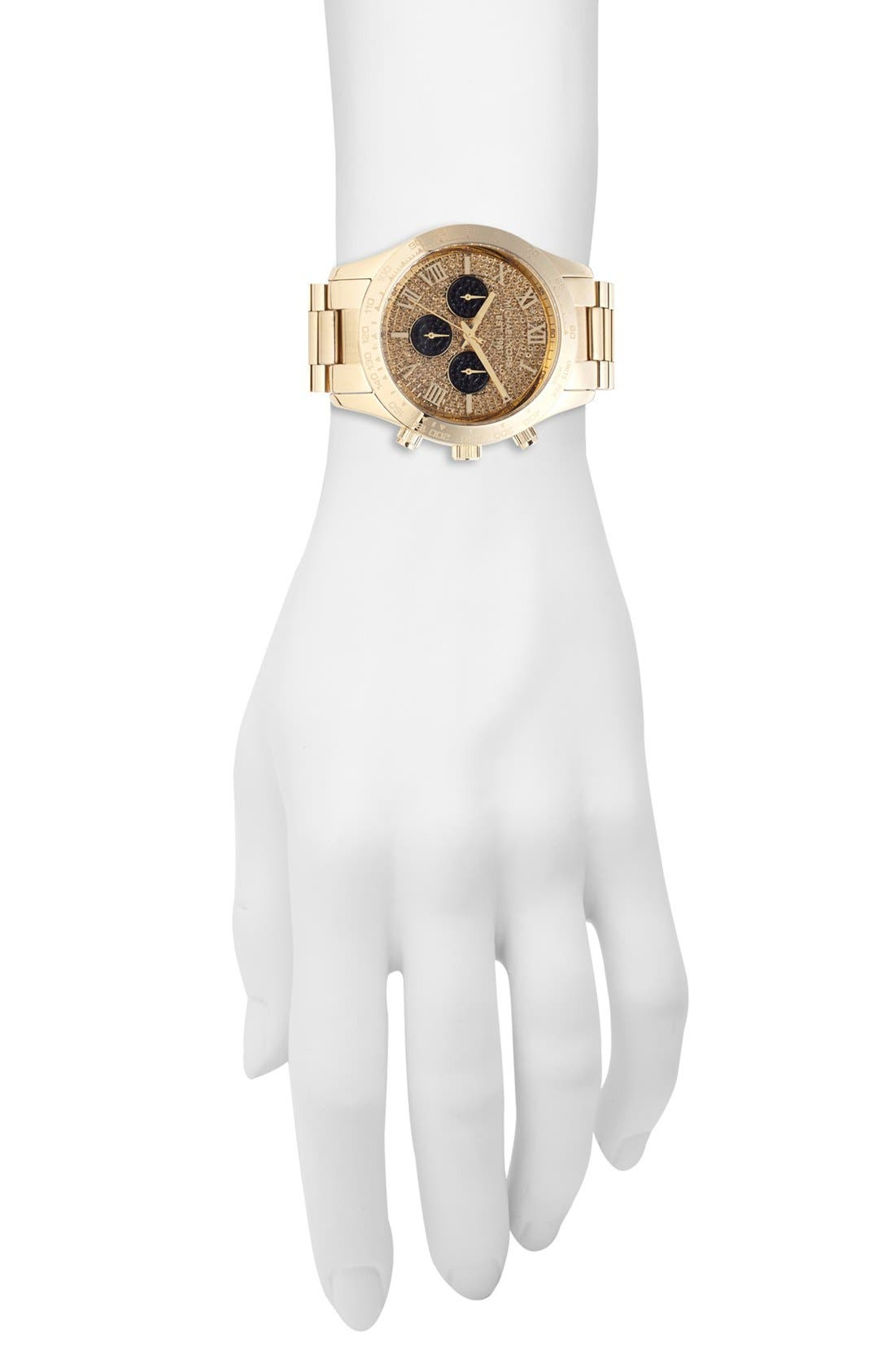 Alternate Image 3  - Michael Kors 'Layton' Pavé Dial Bracelet Watch, 44mm