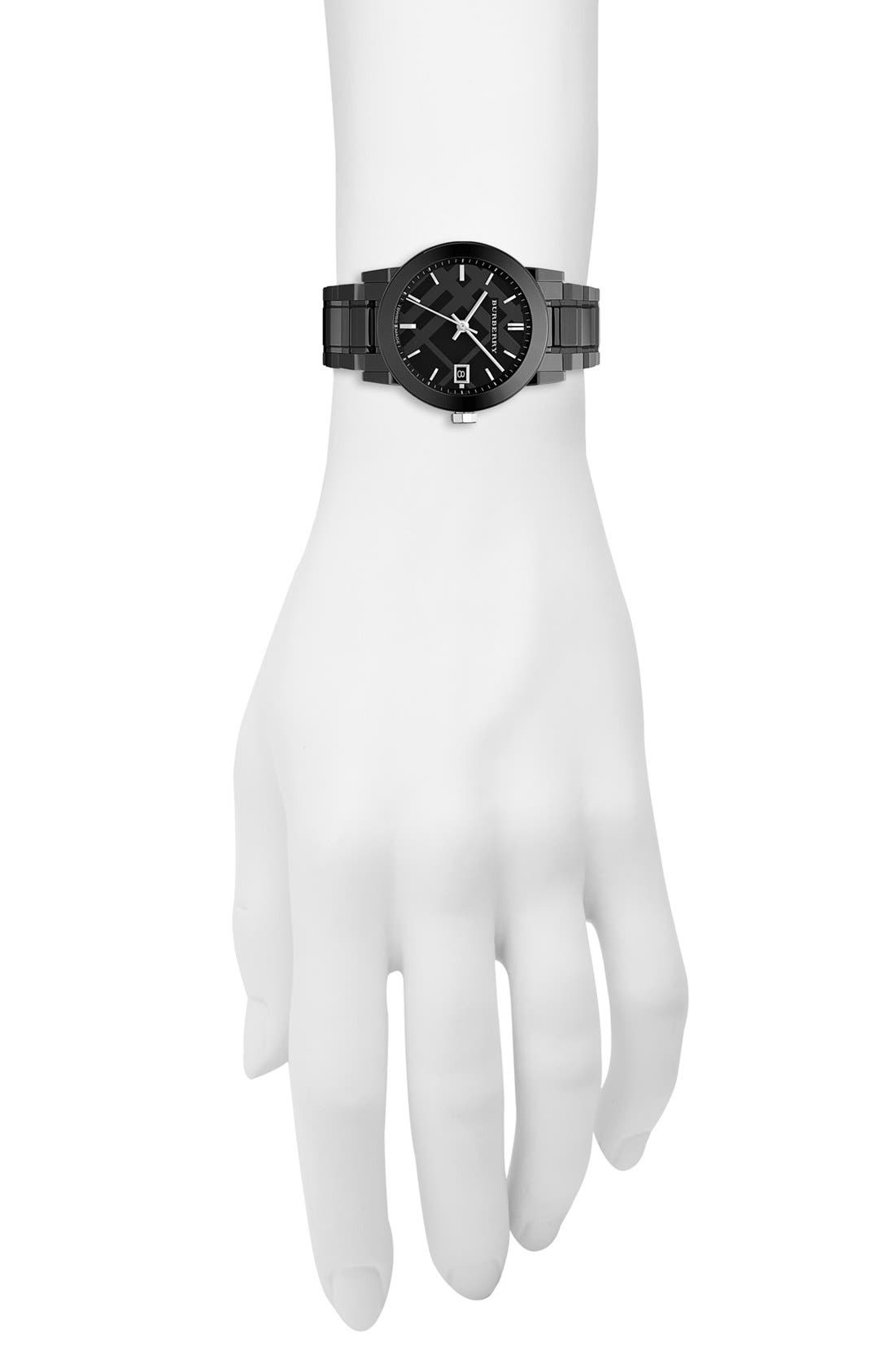 Alternate Image 2  - Burberry Medium Ceramic Bracelet Watch, 34mm