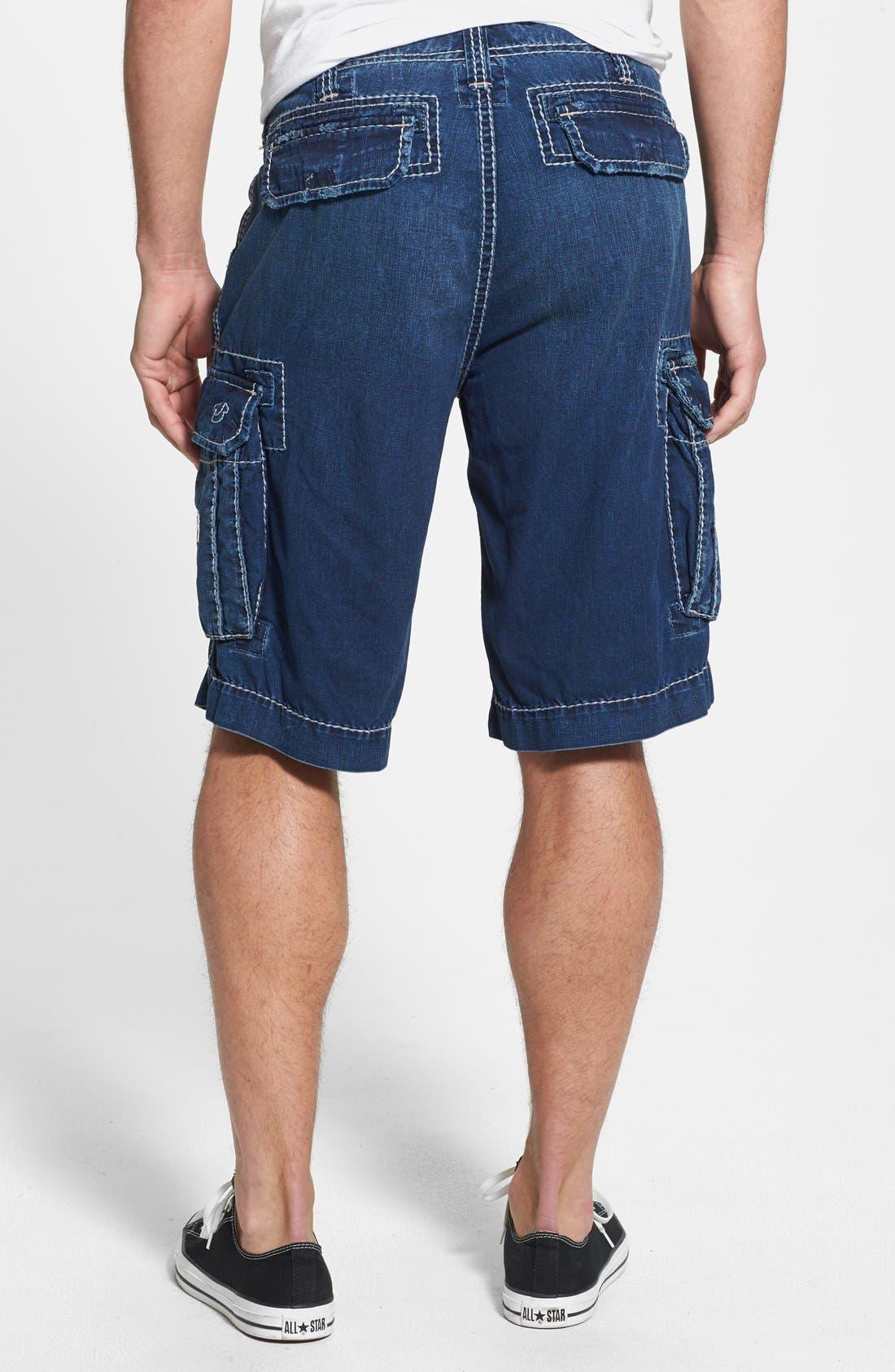 Alternate Image 2  - True Religion Brand Jeans 'Commander - Big T' Denim Cargo Shorts