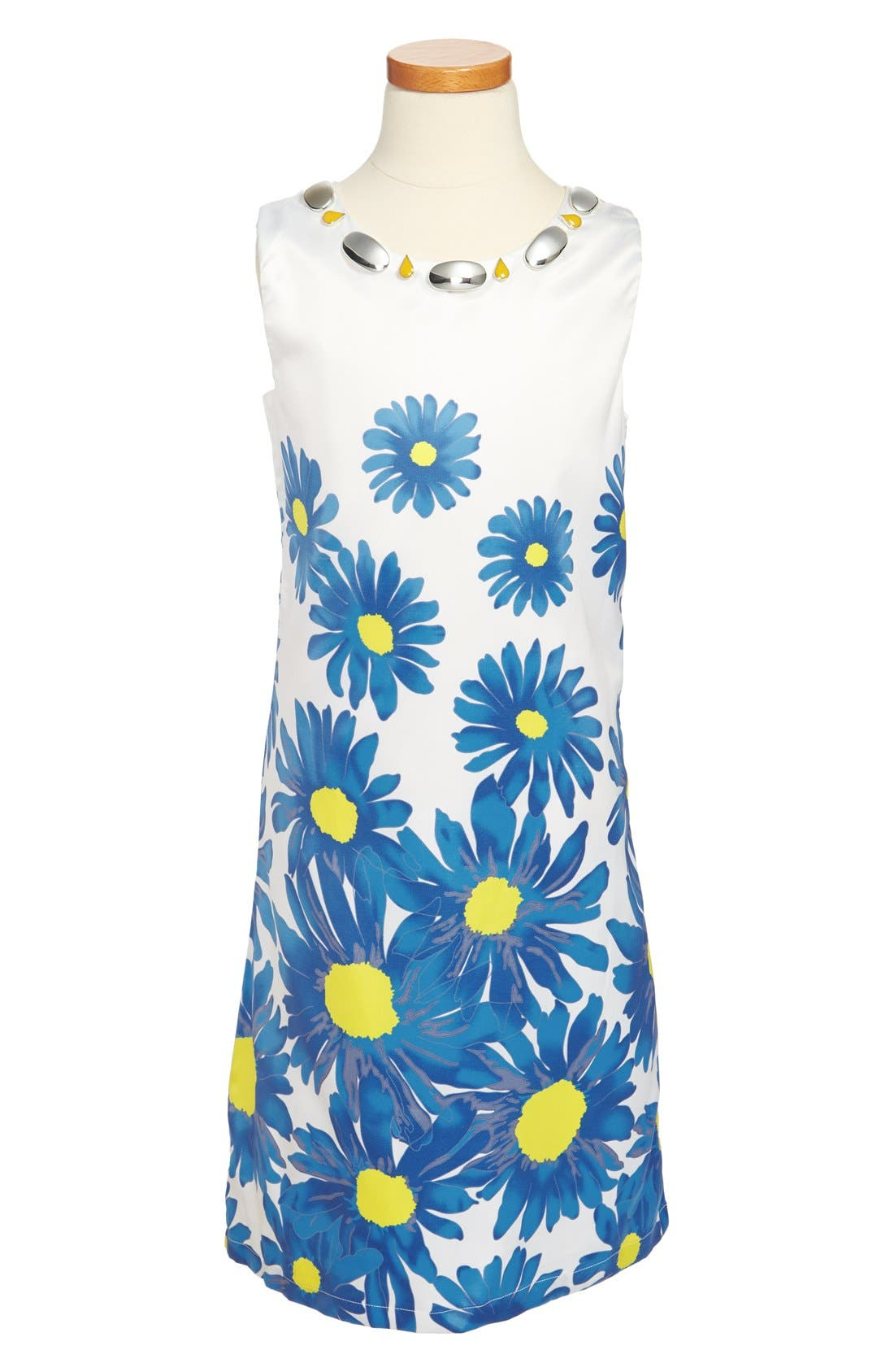 Alternate Image 1 Selected - Laundry by Shelli Segal Embellished Sheath Dress (Big Girls)