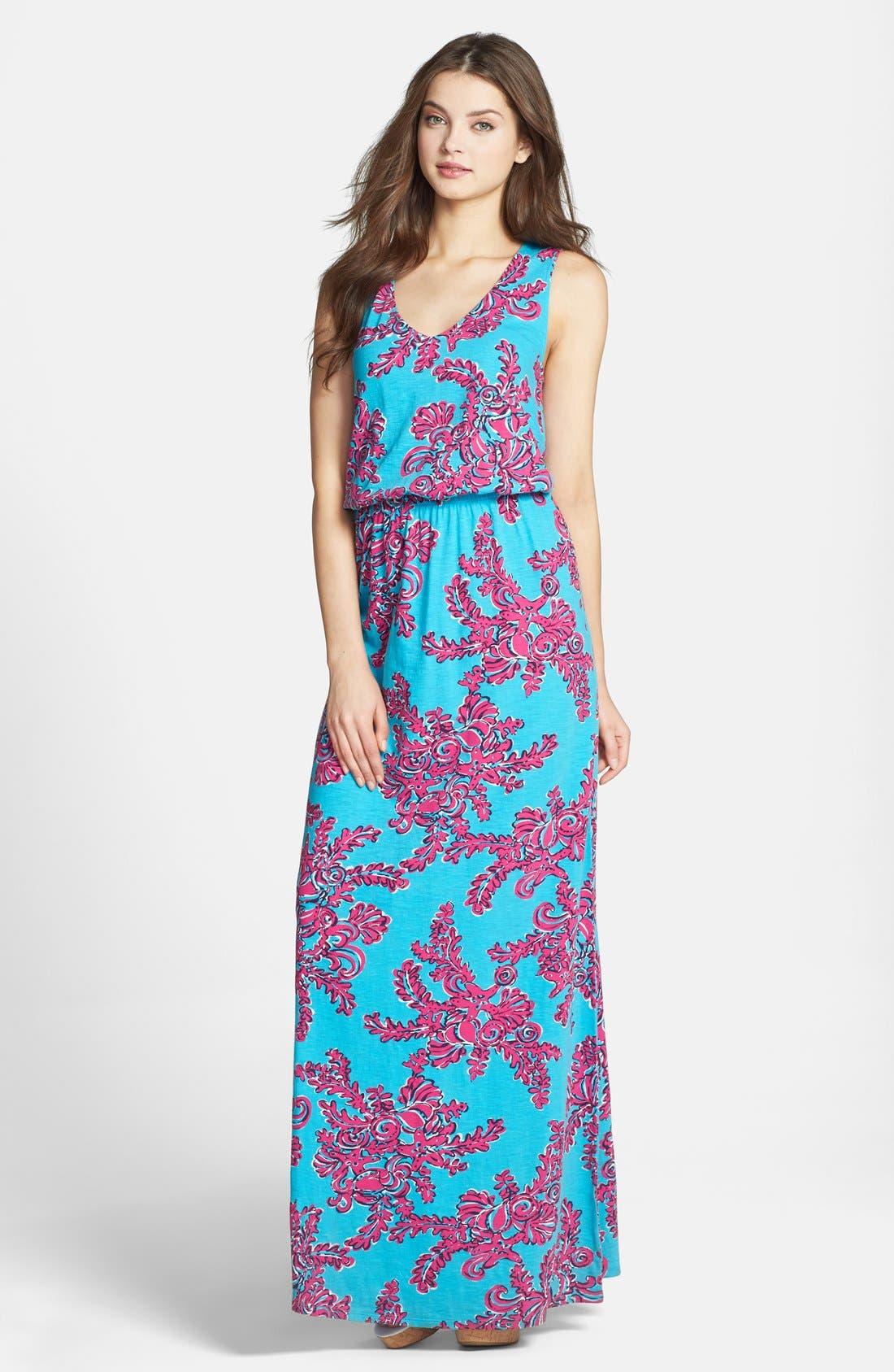 Alternate Image 1 Selected - Lilly Pulitzer® Print Blouson Cotton Maxi Dress