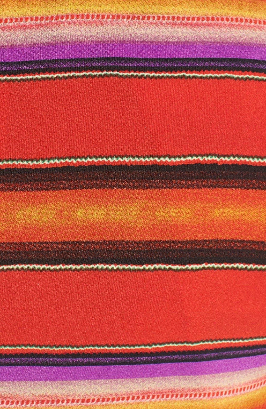 Alternate Image 3  - ASTR Blanket Print Eyelet Crop Tank
