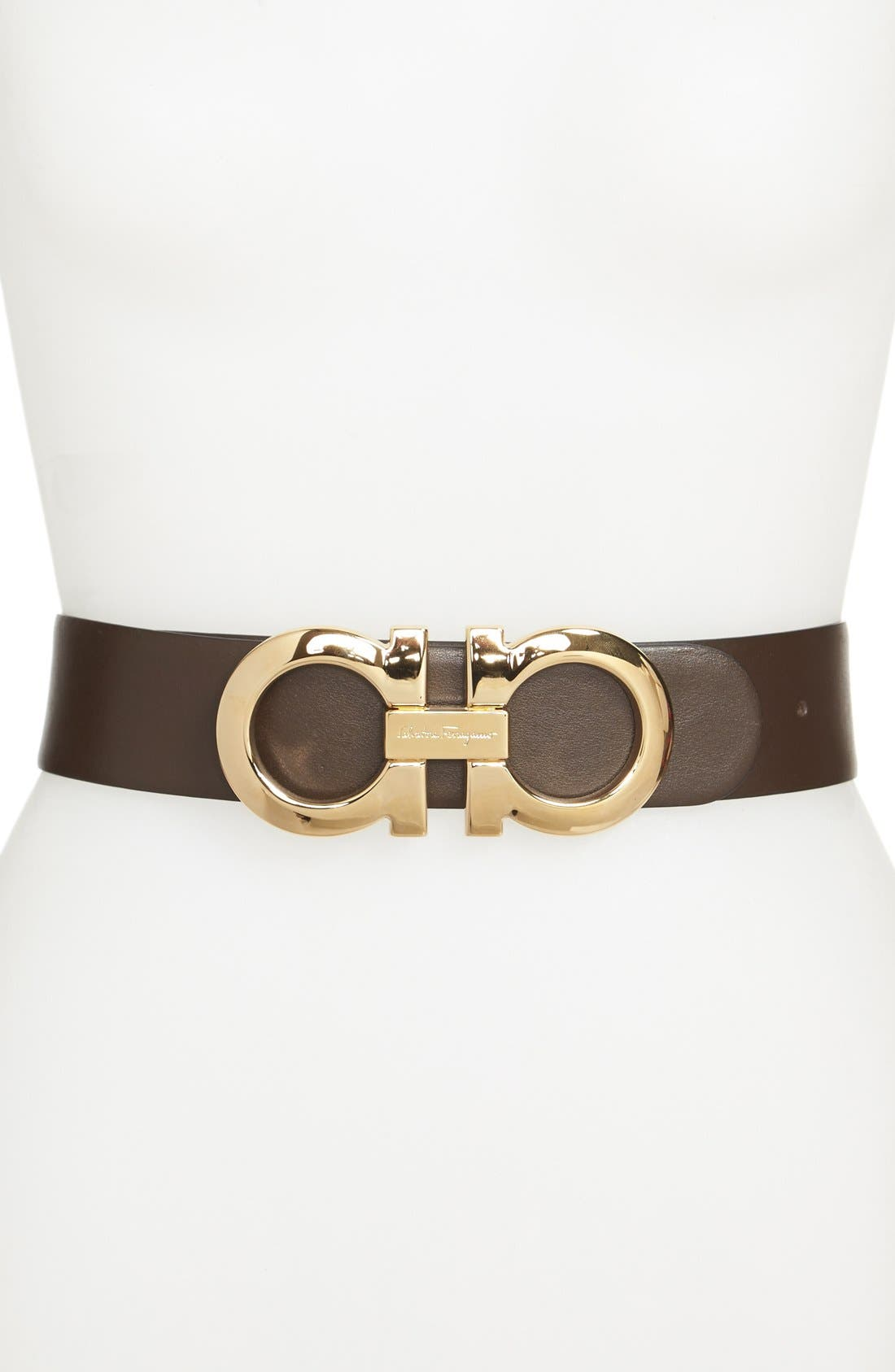 Main Image - Salvatore Ferragamo Reversible Calfskin Belt