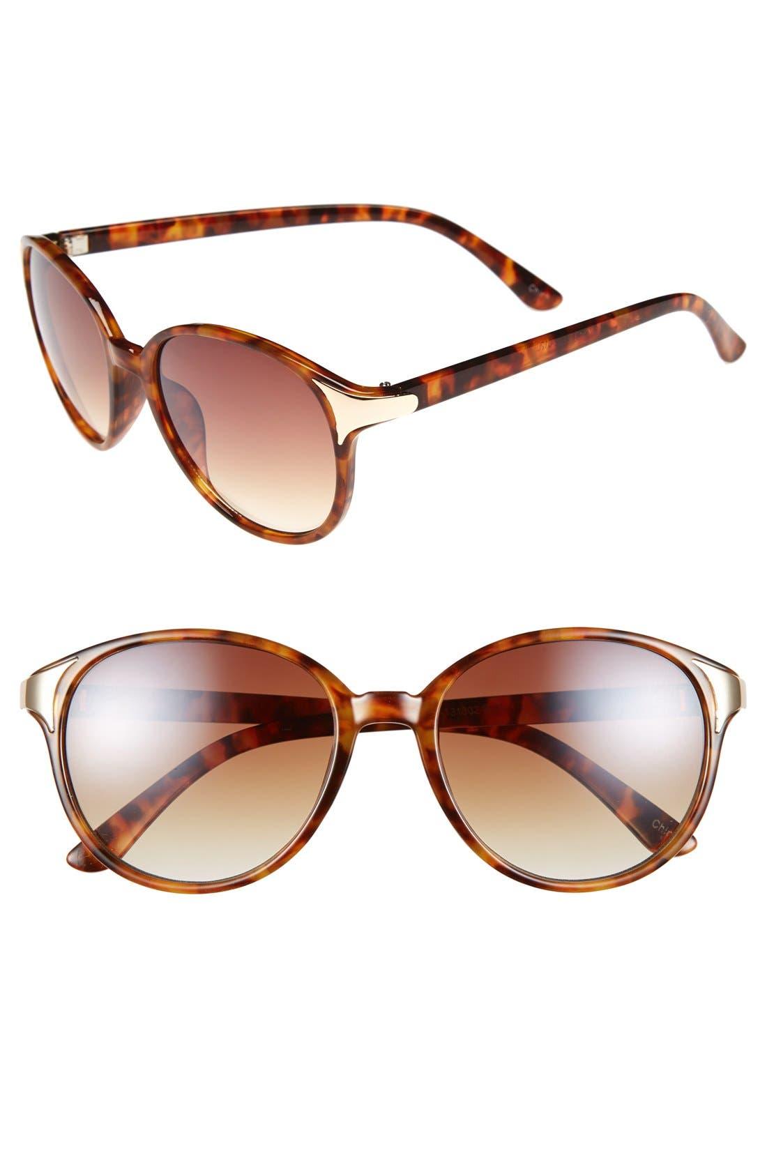 Alternate Image 1 Selected - Icon Eyewear 55mm Metal Accent Sunglasses (Juniors)