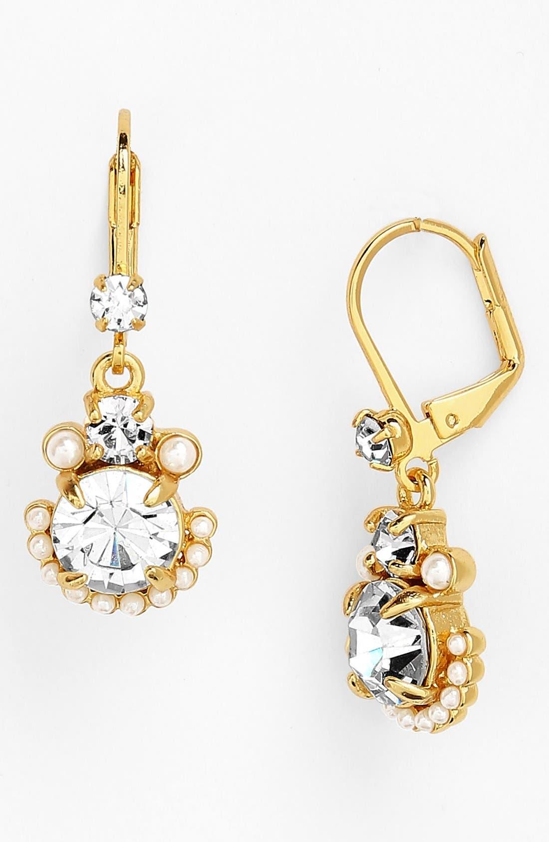 Main Image - kate spade new york 'palace gems' drop earrings