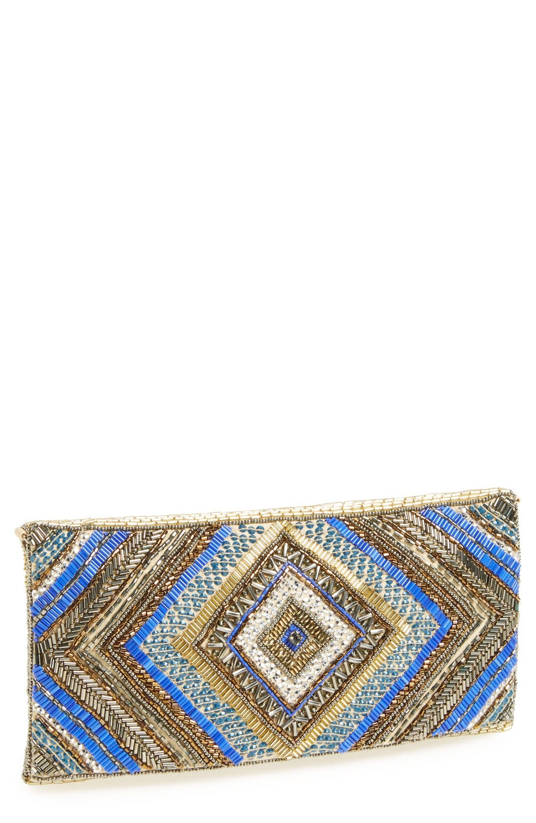 Alternate Image 1 Selected - Glint Beaded Flap Clutch