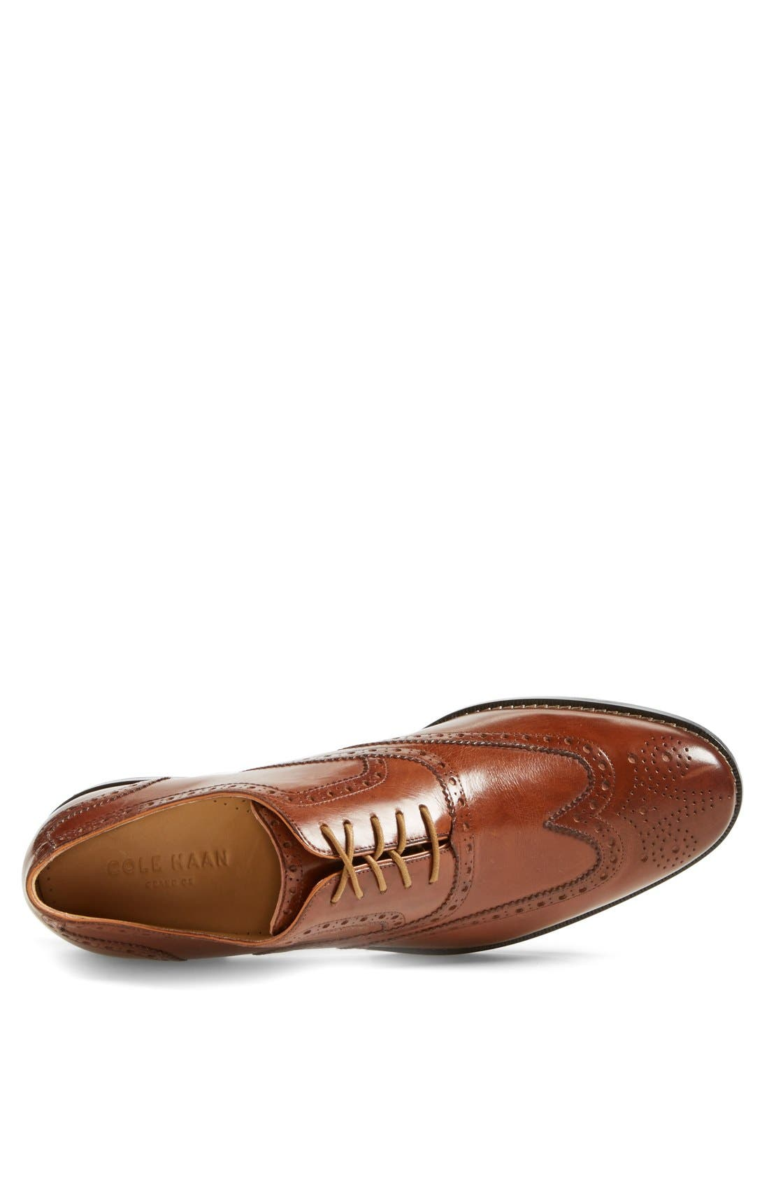 'Cambridge' Wingtip,                             Alternate thumbnail 3, color,                             British Tan Leather