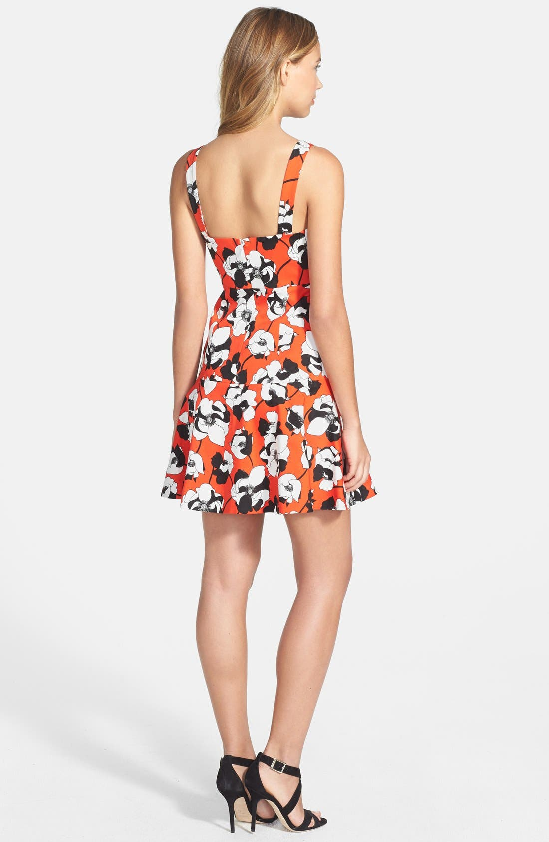 Alternate Image 2  - CeCe by Cynthia Steffe Print Stretch Cotton Fit & Flare Dress