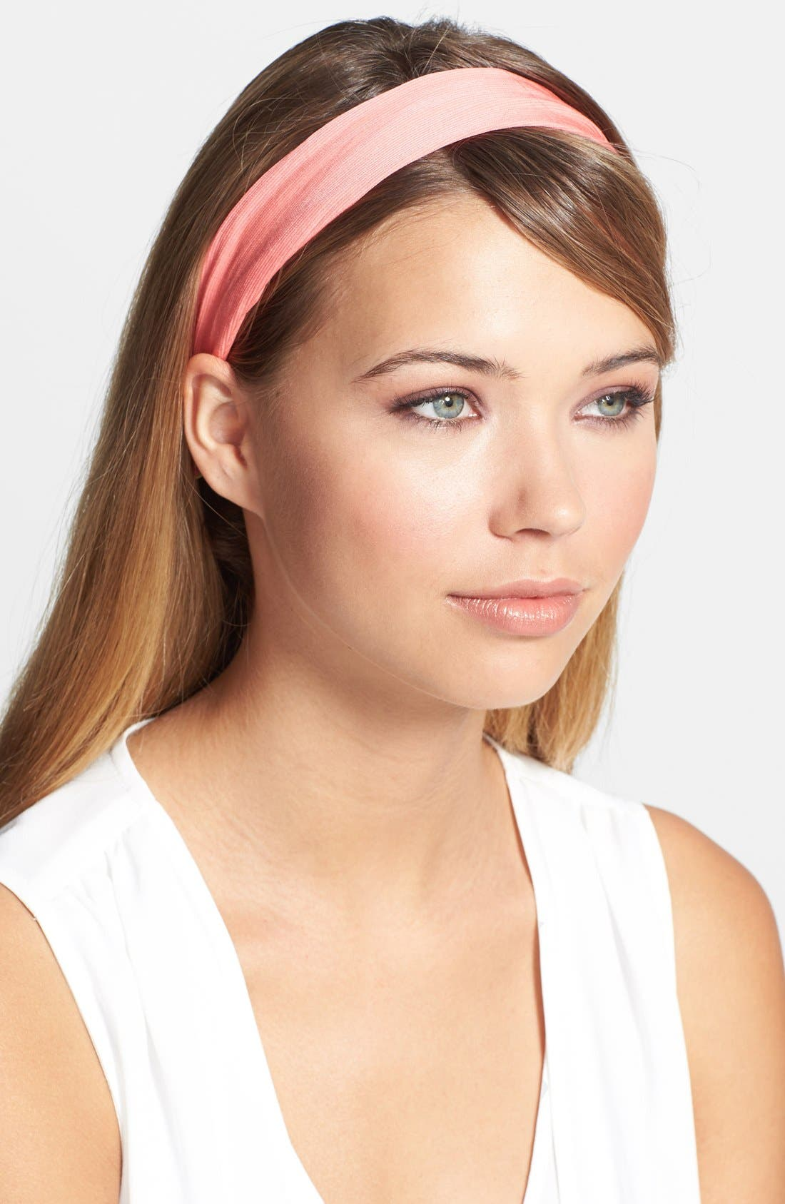 'Grace' Bow 3-in-1 Head Wrap,                             Alternate thumbnail 2, color,                             Coral