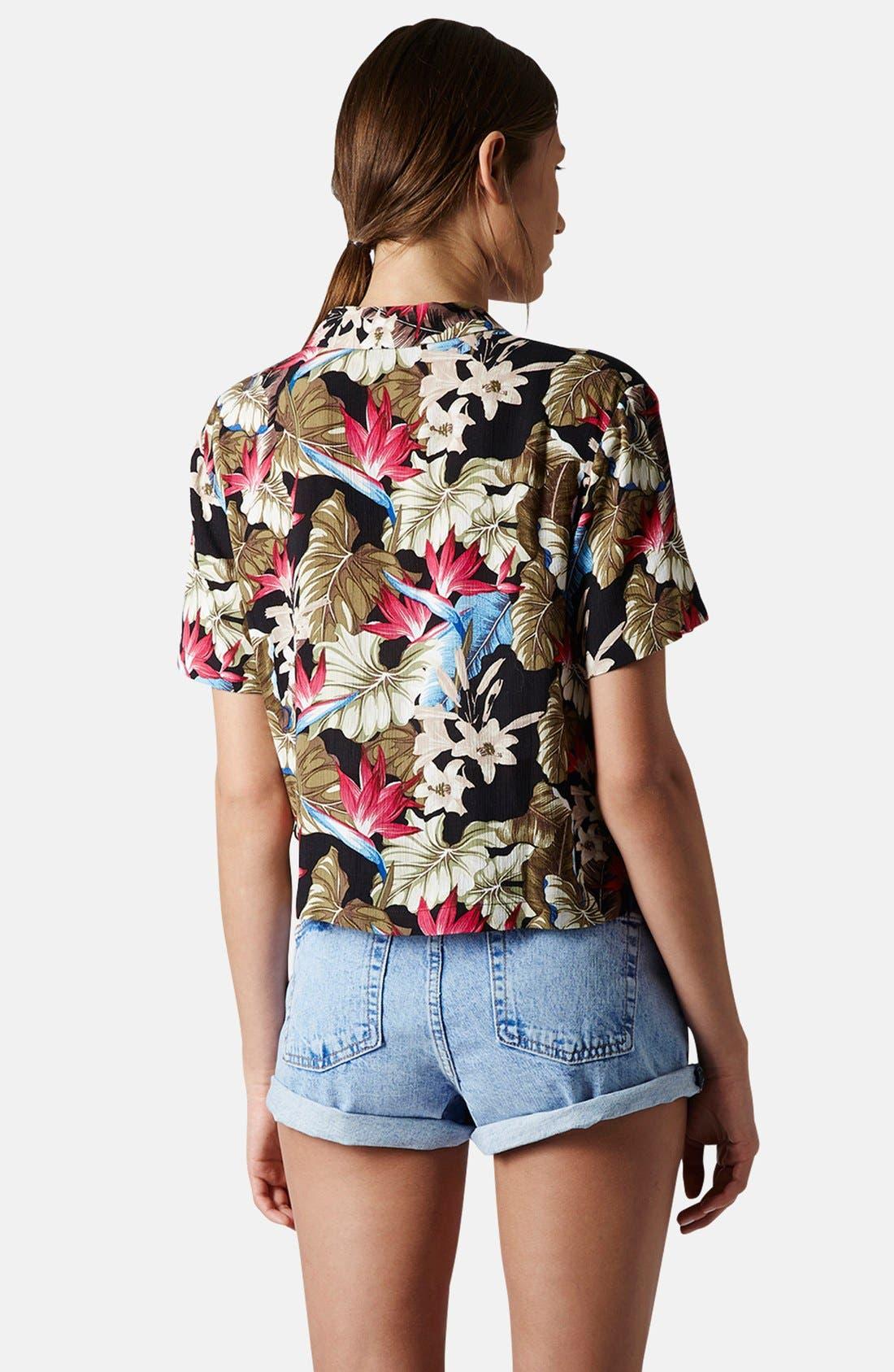 Alternate Image 2  - Topshop Leaf Print Shirt