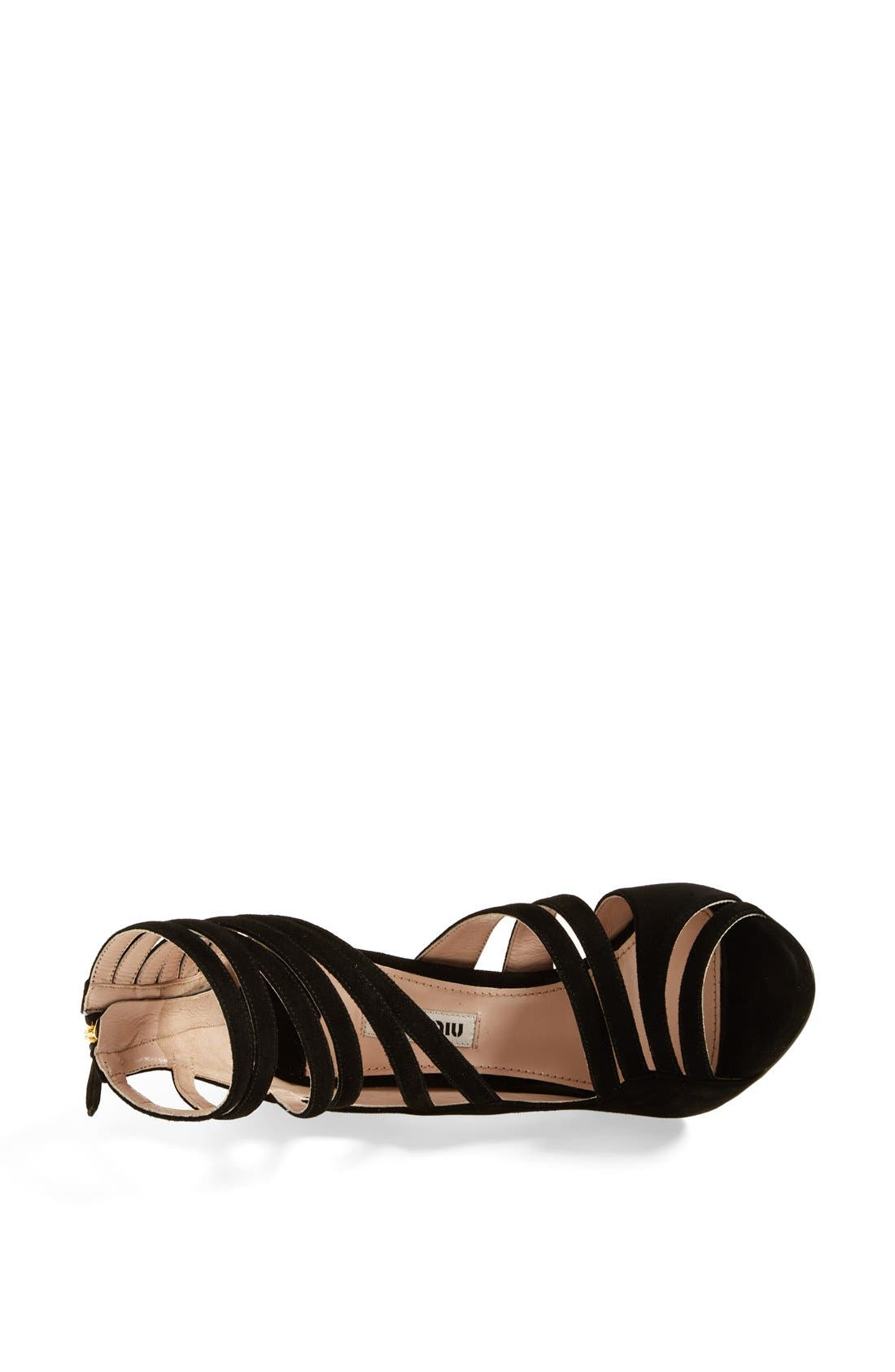 Alternate Image 3  - Miu Miu Asymmetrical Strappy Sandal