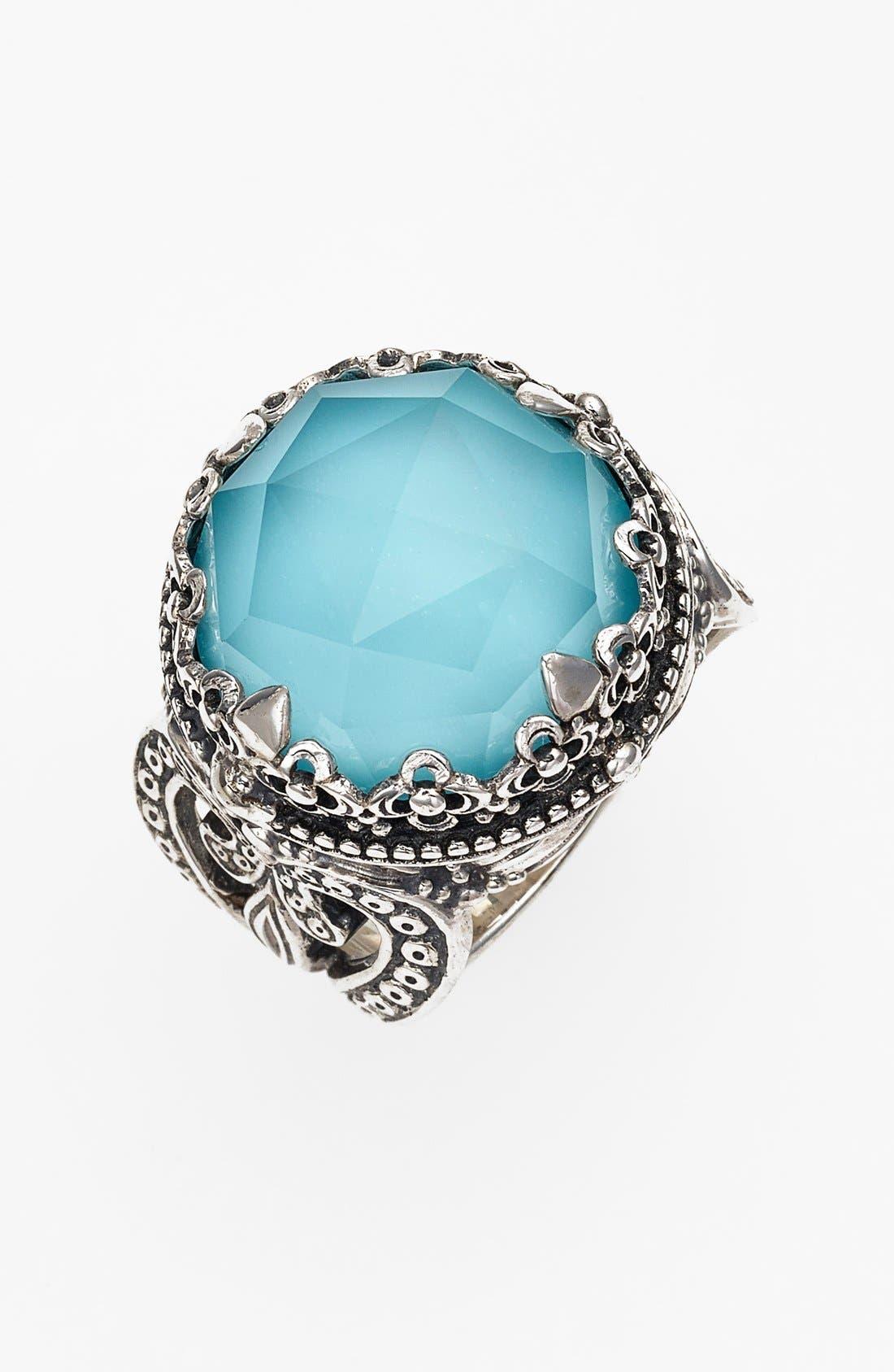 Konstantino 'Aegean' Round Stone Ring
