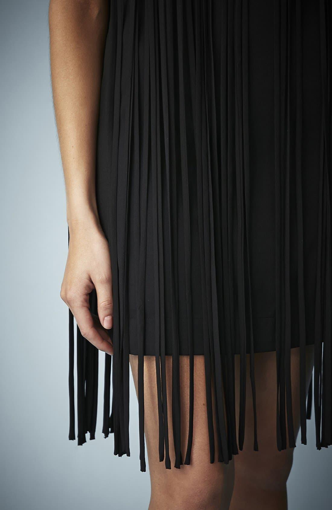 Alternate Image 4  - Kate Moss for Topshop Long Fringed Tassel Dress