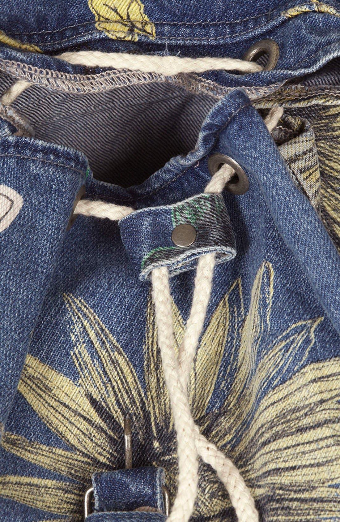 Alternate Image 3  - Topshop 'Mom' Floral Denim Backpack