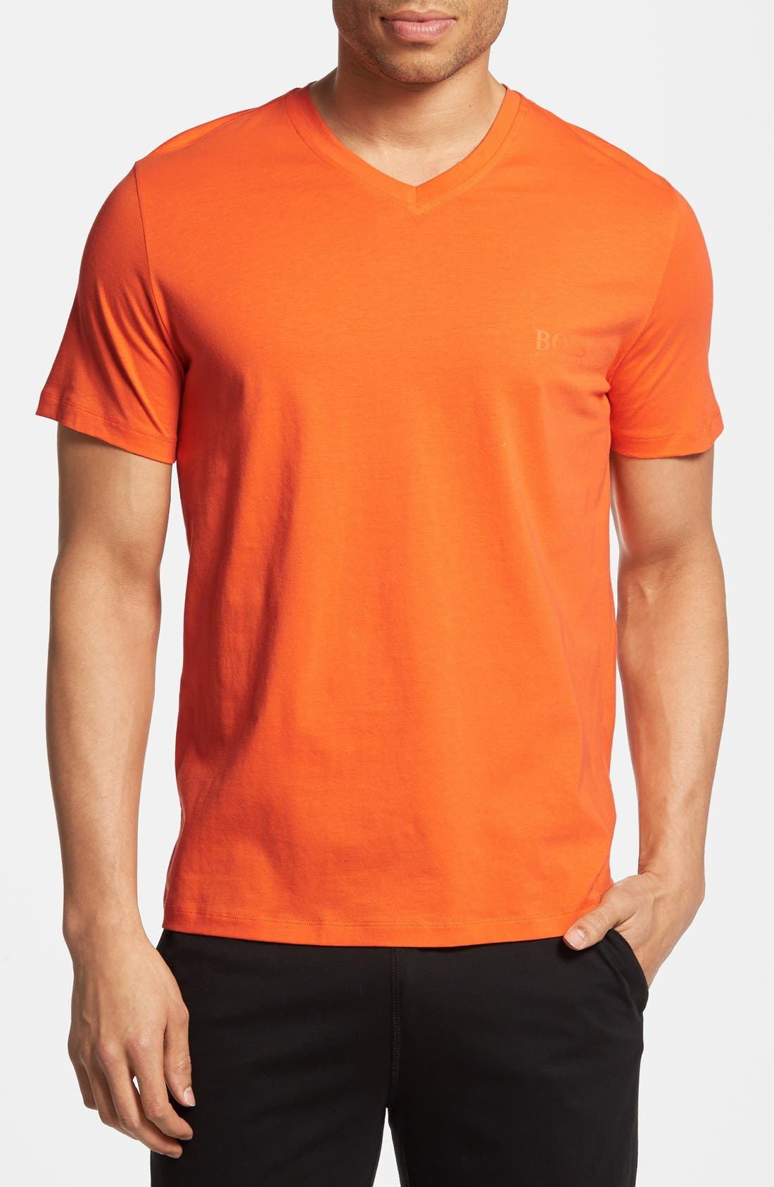 Alternate Image 1 Selected - BOSS HUGO BOSS Cotton V-Neck T-Shirt