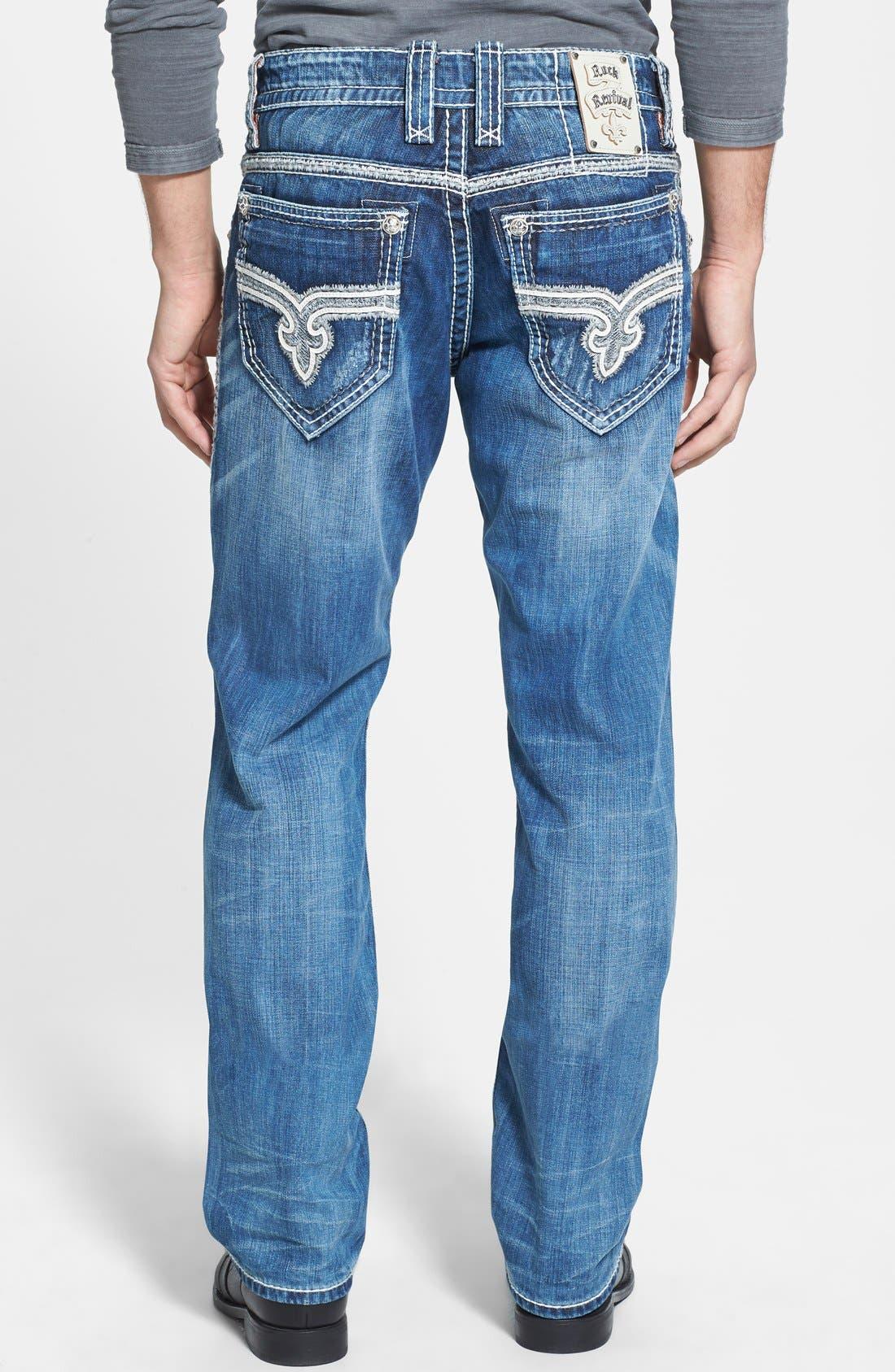 Alternate Image 1 Selected - Rock Revival 'Rogan' Bootcut Jeans (Medium Blue)