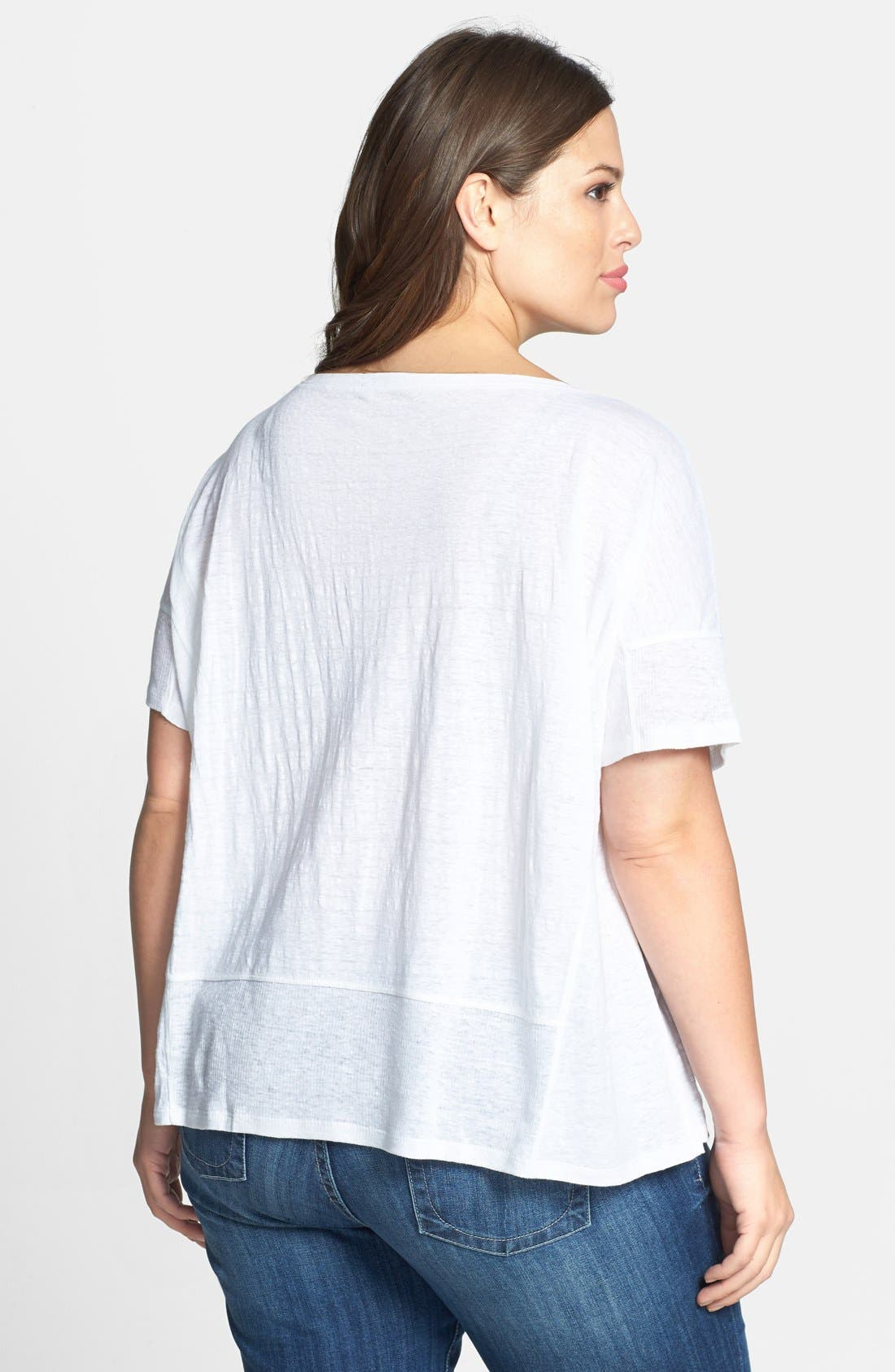 Alternate Image 2  - Eileen Fisher Organic Linen Jersey Bateau Top (Plus Size)